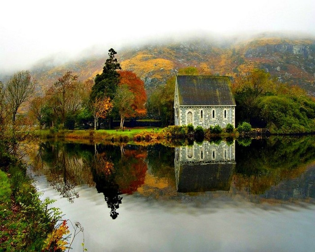 8805 скачать обои Пейзаж, Река, Деревья - заставки и картинки бесплатно