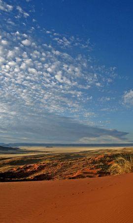 81869 Заставки и Обои Пустыня на телефон. Скачать Природа, Песок, Облака, Перьевые, Пустыня картинки бесплатно