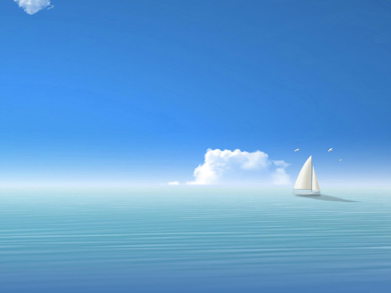 22333 скачать обои Пейзаж, Корабли, Море, Облака, Рисунки - заставки и картинки бесплатно