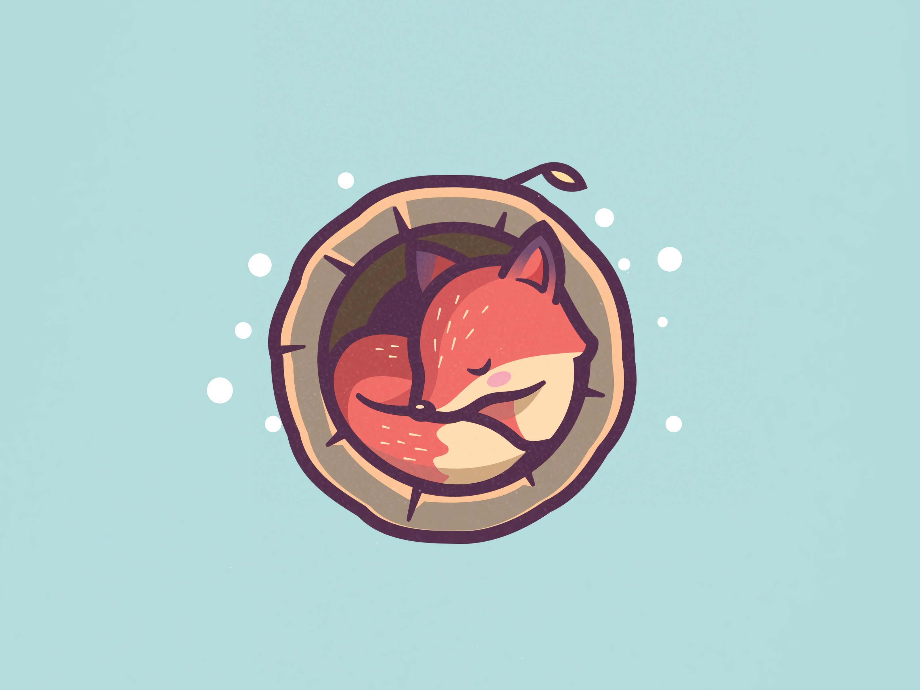 117087 download wallpaper Art, Fox, Vector, Hollow, Asleep, Sleeps screensavers and pictures for free