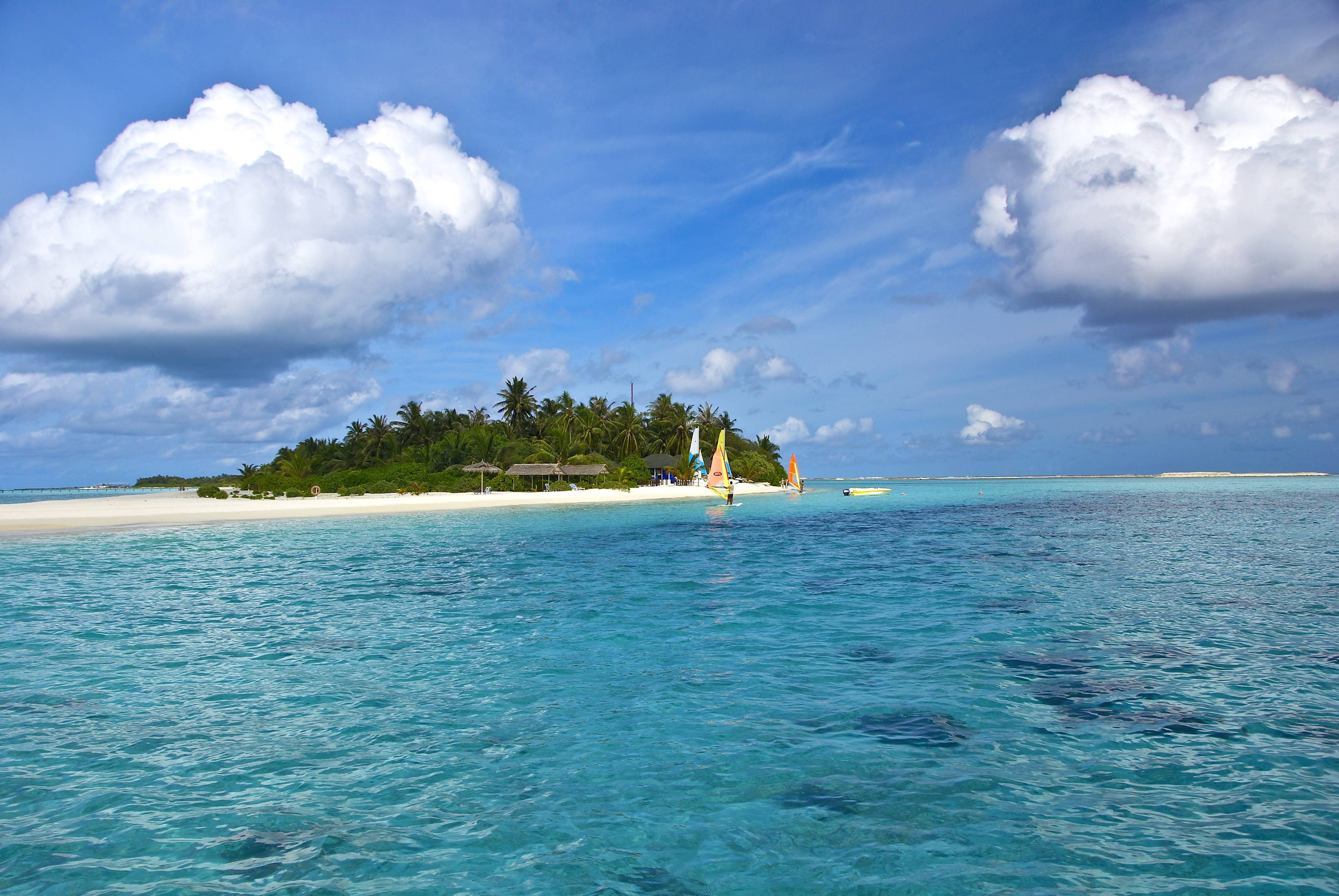 107721 Screensavers and Wallpapers Island for phone. Download Nature, Sea, Beach, Sand, Palms, Tropics, Island, Maldives pictures for free