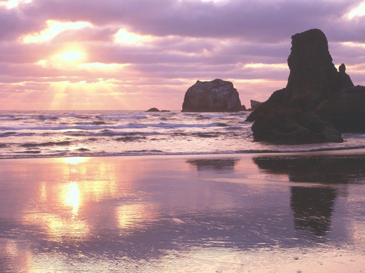 28401 скачать обои Пейзаж, Закат, Море, Волны - заставки и картинки бесплатно