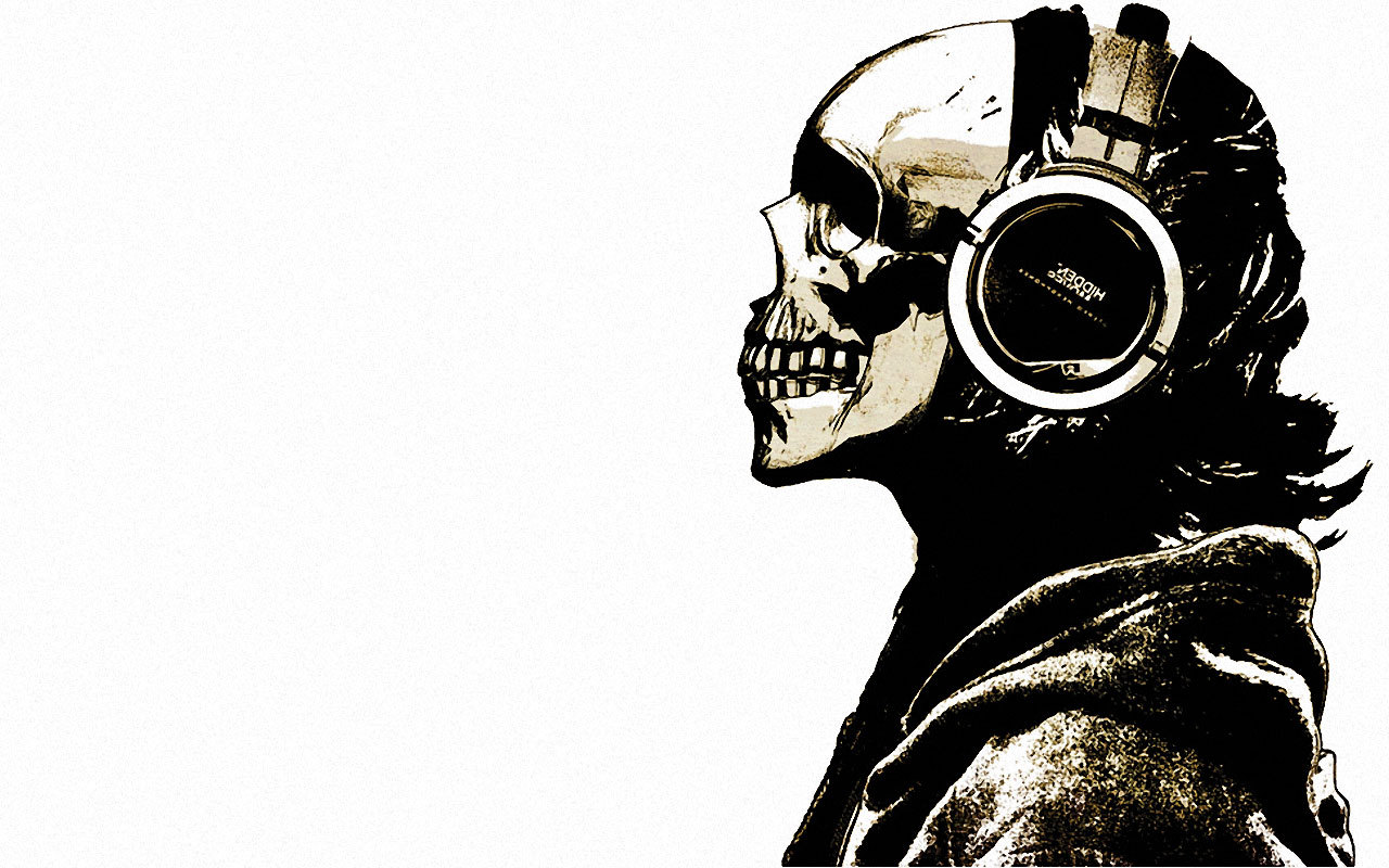 21014 download wallpaper Music, Death, Headphones screensavers and pictures for free