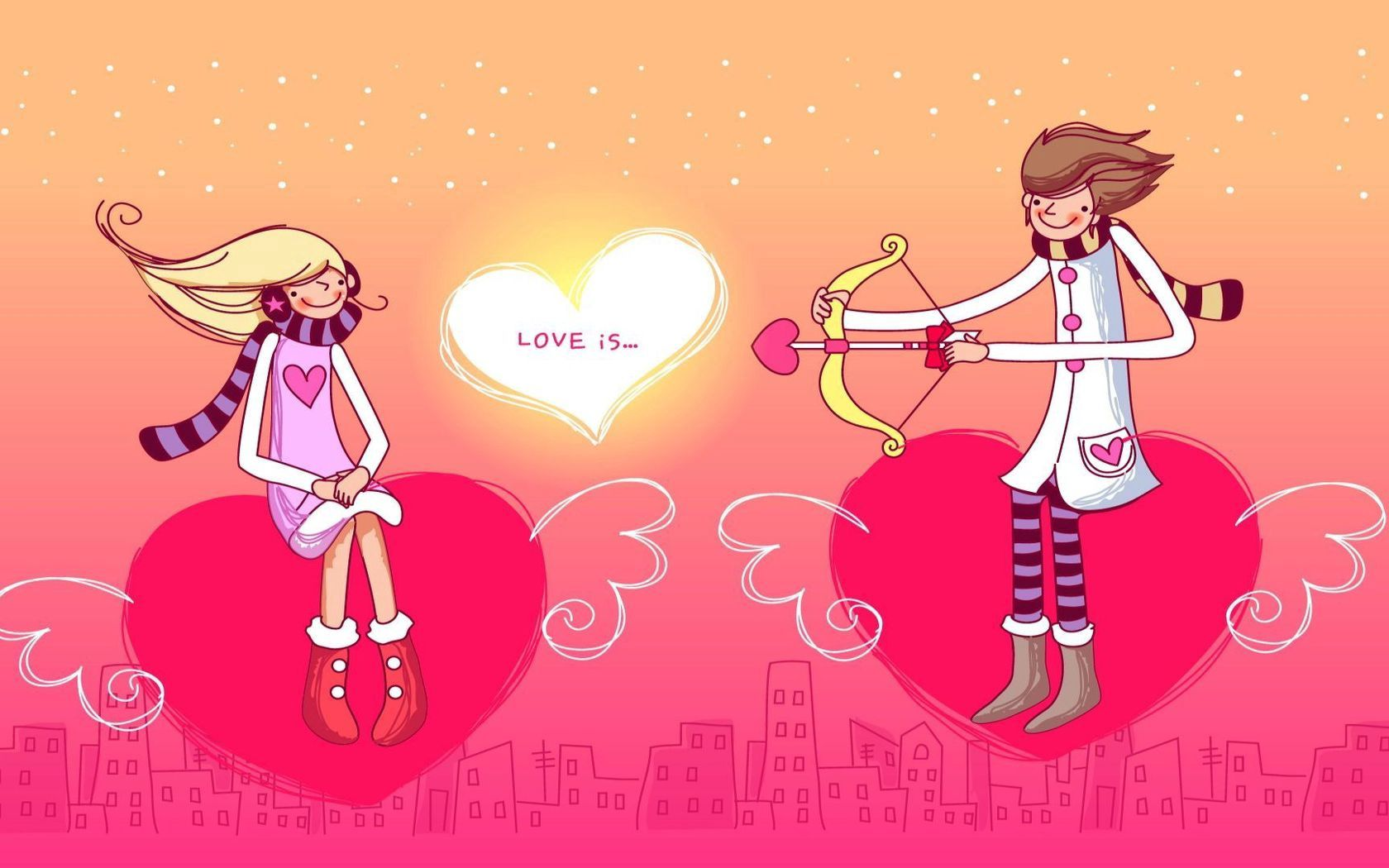 66721 download wallpaper Couple, Pair, Love, Heart, Arrows, Onion screensavers and pictures for free