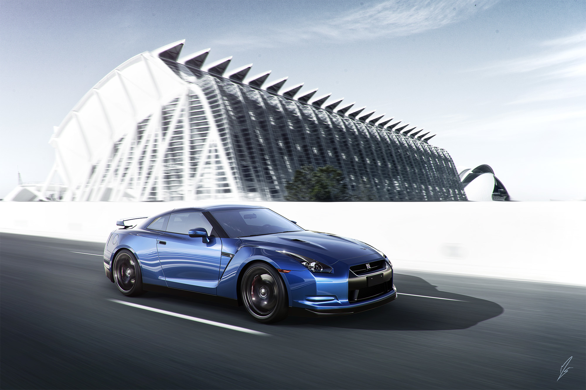 113652 Screensavers and Wallpapers Nissan for phone. Download Nissan, Cars, Speed, Gt-R, Blue6 Side View pictures for free