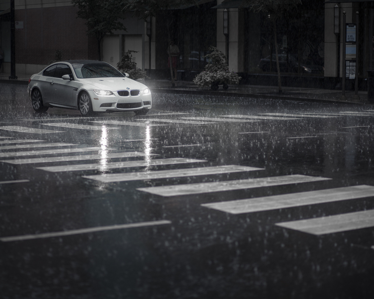 14850 download wallpaper Transport, Auto, Bmw, Rain, Art Photo screensavers and pictures for free