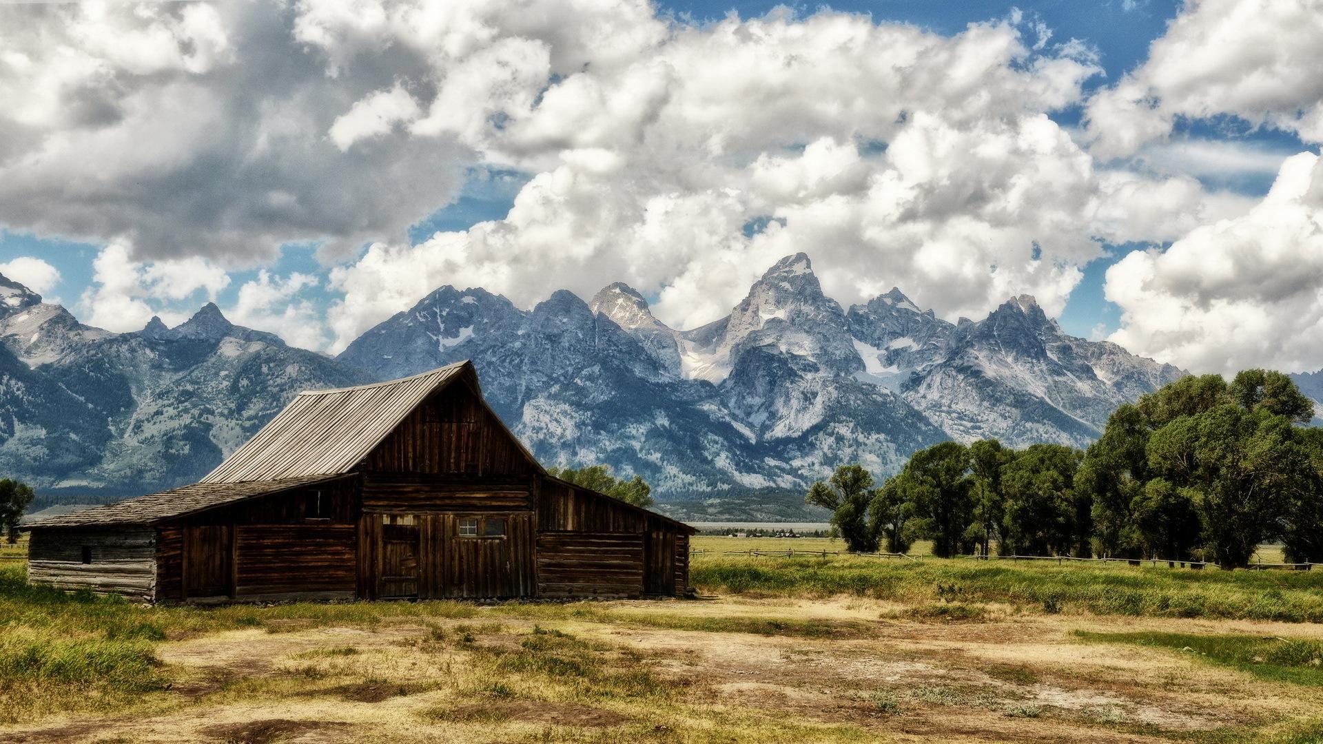 46115 скачать обои Пейзаж, Природа, Дома, Горы - заставки и картинки бесплатно