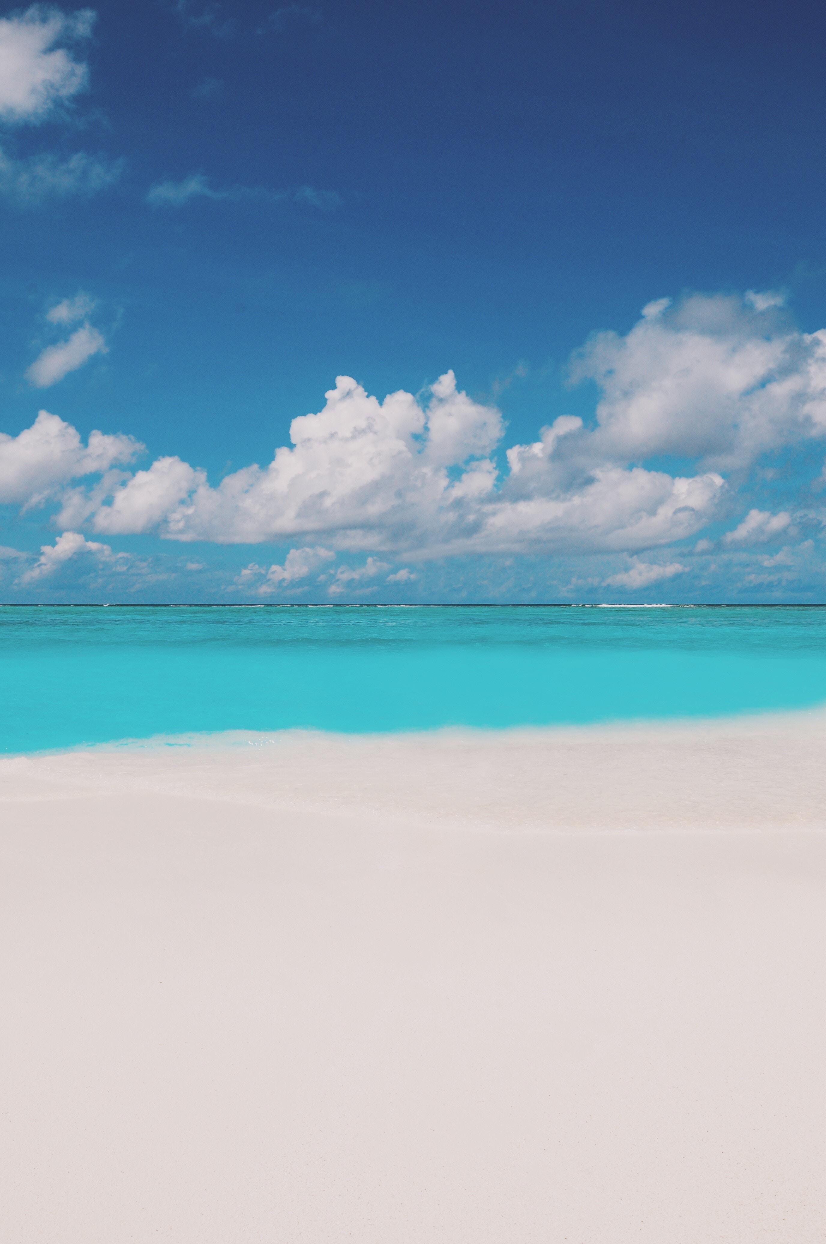 153287 Hintergrundbild herunterladen Wasser, Natur, Horizont, Küste, Ozean, Malediven - Bildschirmschoner und Bilder kostenlos