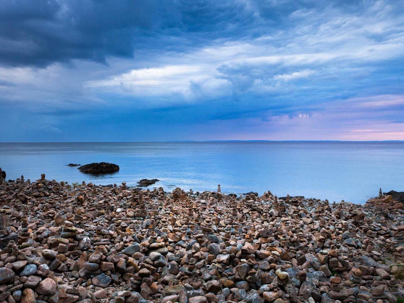 26851 免費下載壁紙 景观, 鹅卵石, 海, 云, 海滩 屏保和圖片