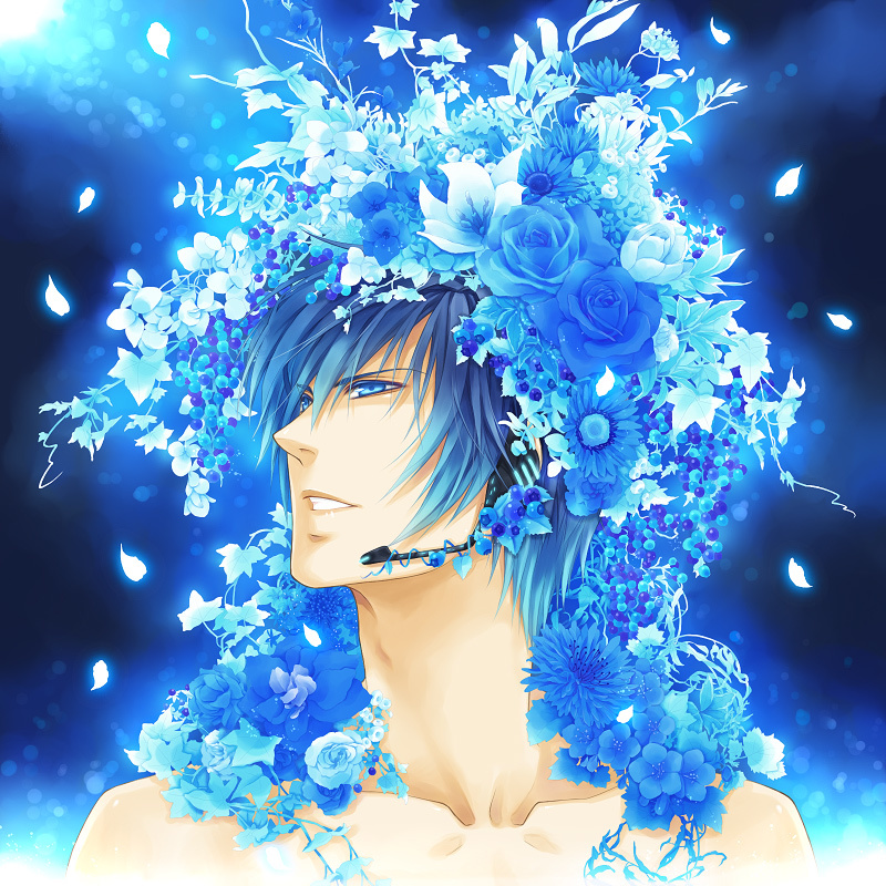 12200 download wallpaper Anime, Flowers, Men screensavers and pictures for free