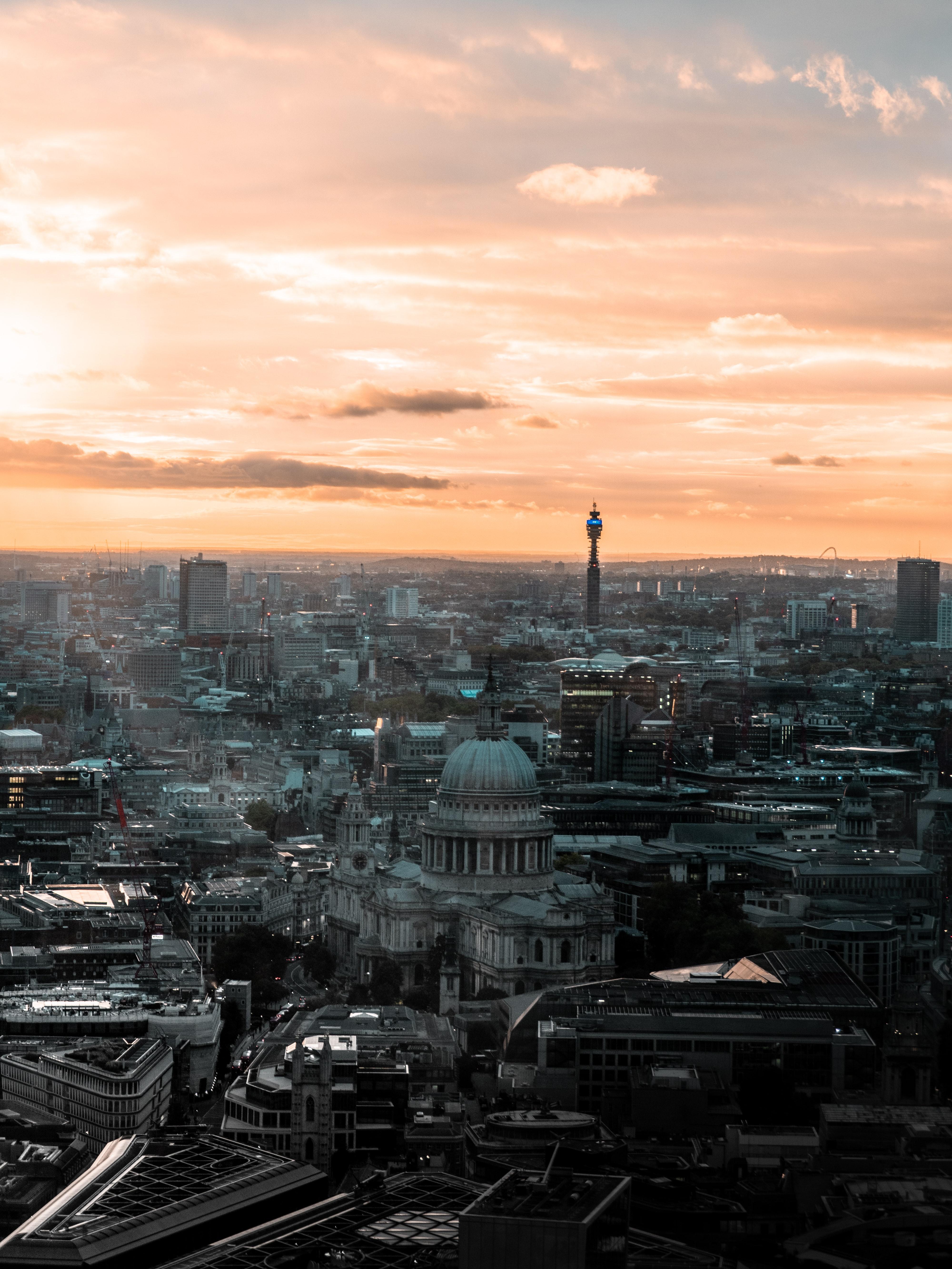 116261 Hintergrundbild herunterladen Architektur, Städte, Großbritannien, London, Stadt, Gebäude, Blick Von Oben, Überblick, Bewertung, Vereinigtes Königreich - Bildschirmschoner und Bilder kostenlos