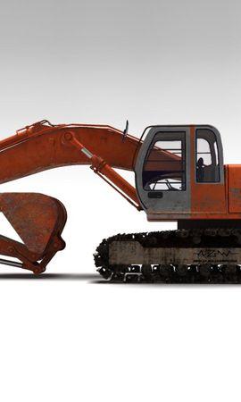 94056 descargar fondo de pantalla 3D, Hitachi, Excavadora, Bulldozer, Transporte, Metal: protectores de pantalla e imágenes gratis