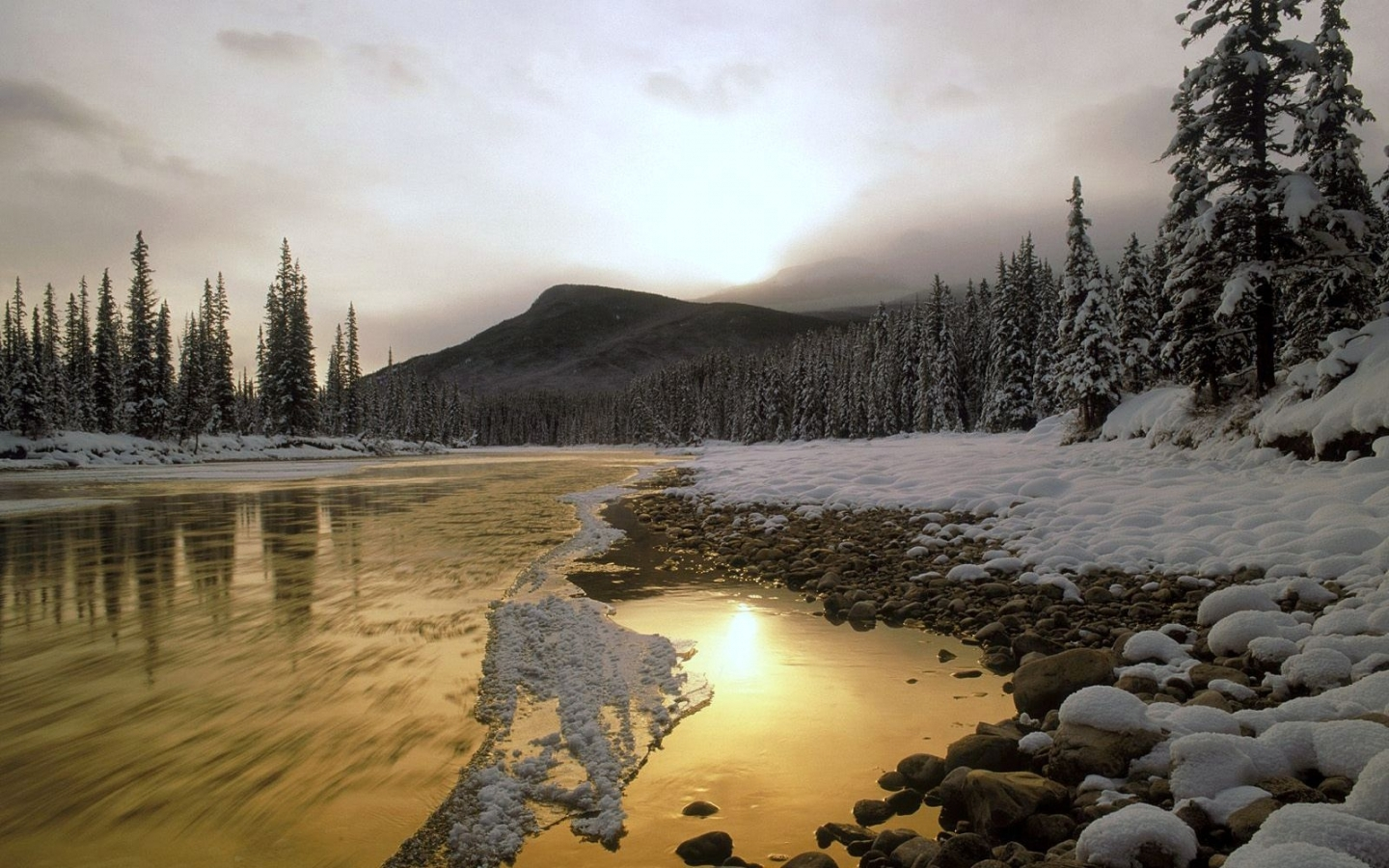 50219 download wallpaper Landscape, Nature, Rivers, Mountains, Snow screensavers and pictures for free