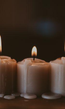 154712 завантажити шпалери Різне, Свічки, Полум'я, Віск, Вогонь, Затишок, Комфорт - заставки і картинки безкоштовно