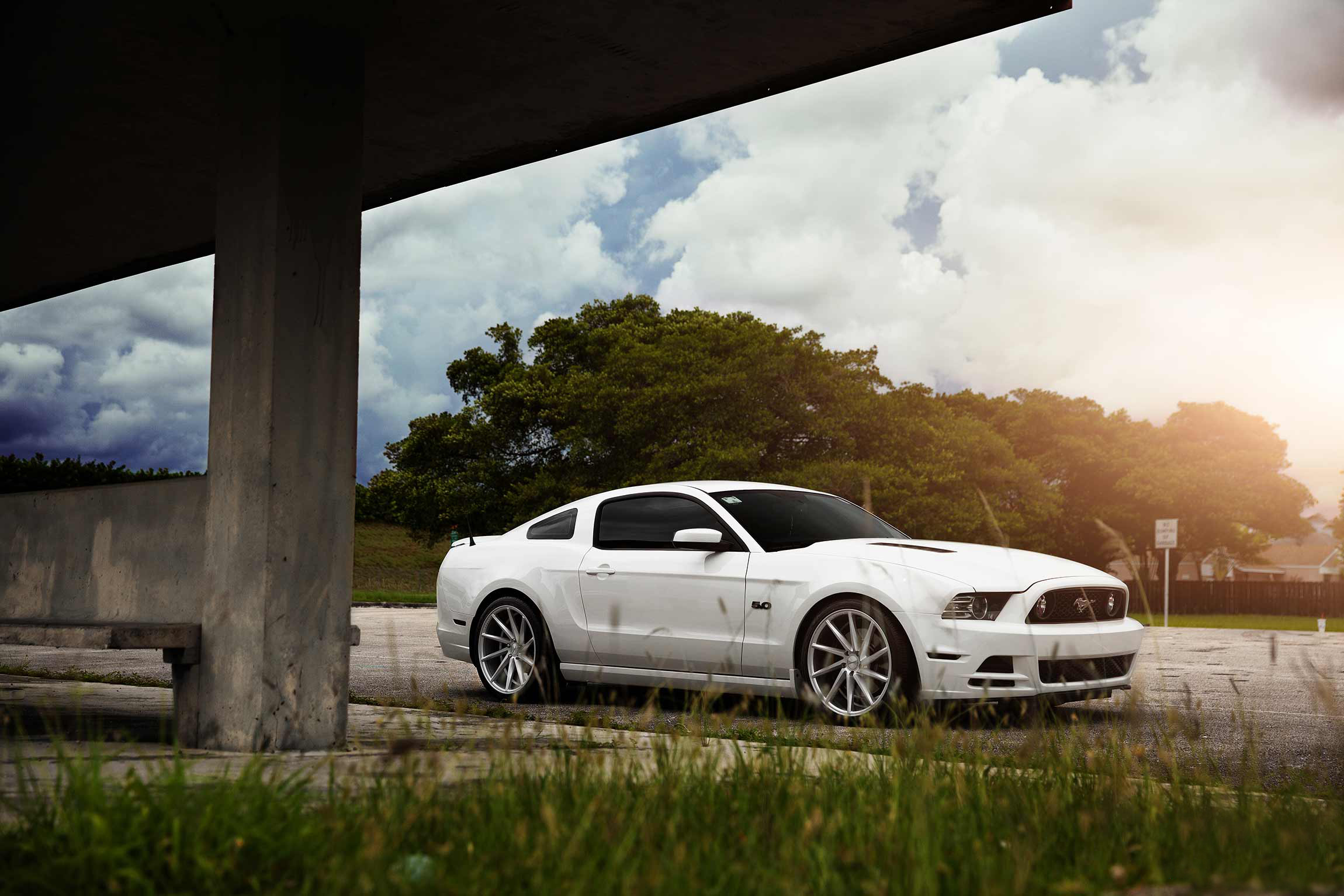 76885 download wallpaper Ford, Mustang, Cars, Wheels, Vossen, Cvt screensavers and pictures for free