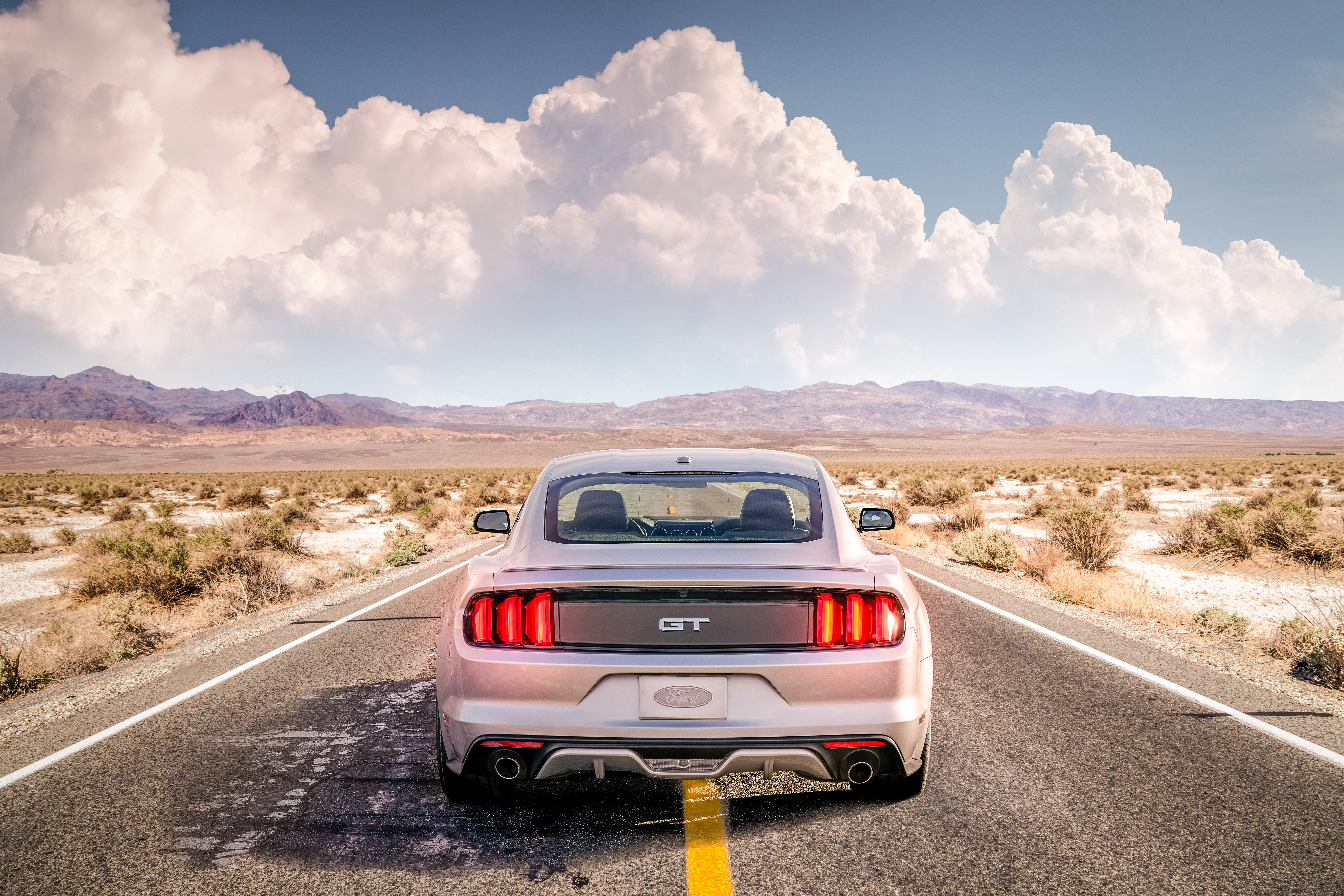 53528 download wallpaper Clouds, Mustang, Cars, Road, Ford Mustang, Mustang Gt screensavers and pictures for free