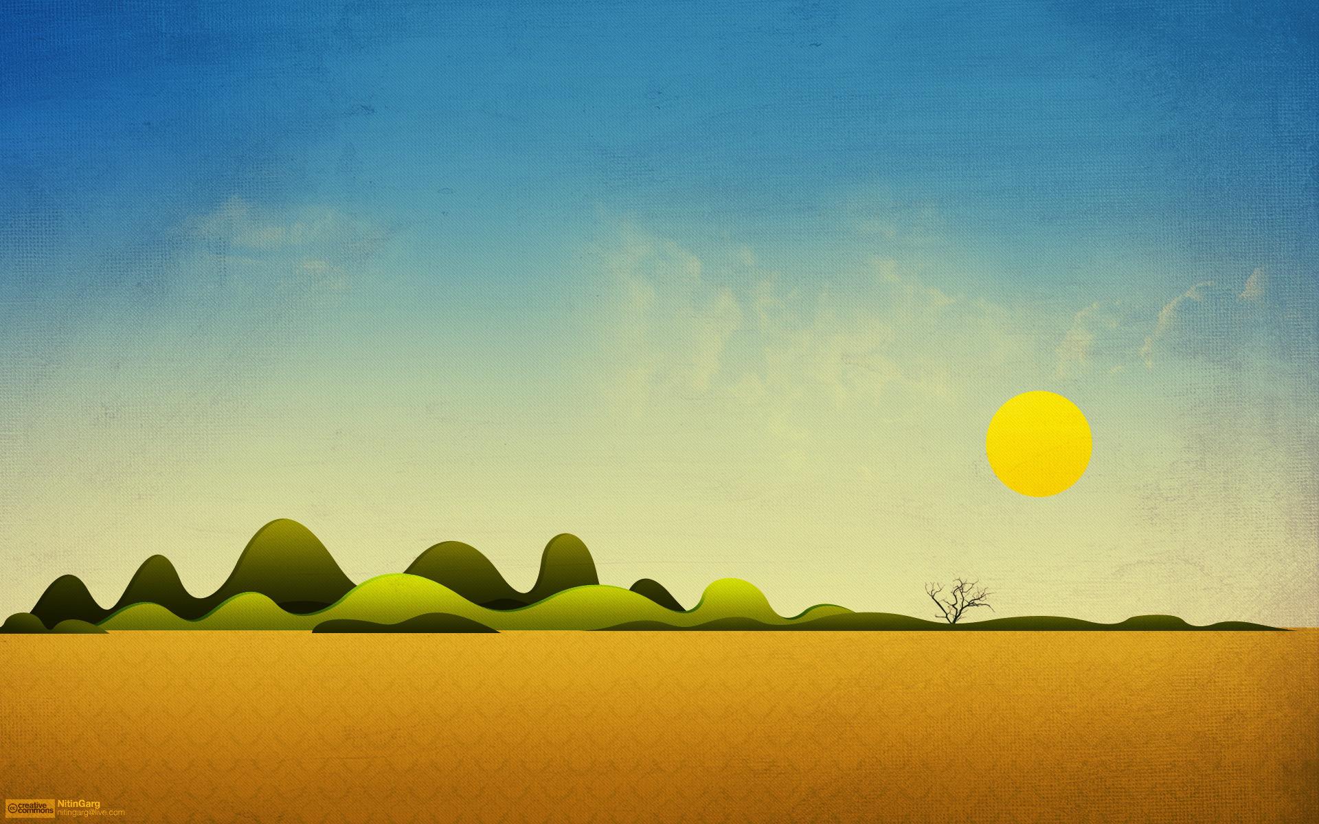 12006 скачать обои Пейзаж, Солнце, Рисунки - заставки и картинки бесплатно