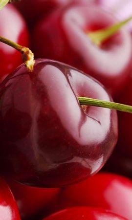 26165 baixe gratuitamente papéis de parede de Vermelho para seu telefone, Frutas, Cerejas, Comida, Fundo imagens e protetores de tela de Vermelho para seu celular
