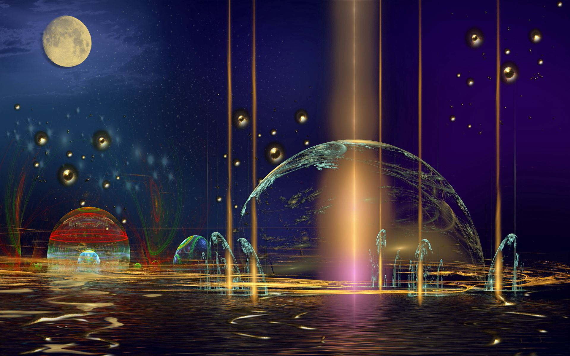 127116 скачать обои Абстракция, Планета, Воображение, Фон - заставки и картинки бесплатно