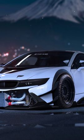 90132 Screensavers and Wallpapers Sports for phone. Download Cars, Bmw, I8, Tuning, Sports Car, Sports, Front View pictures for free