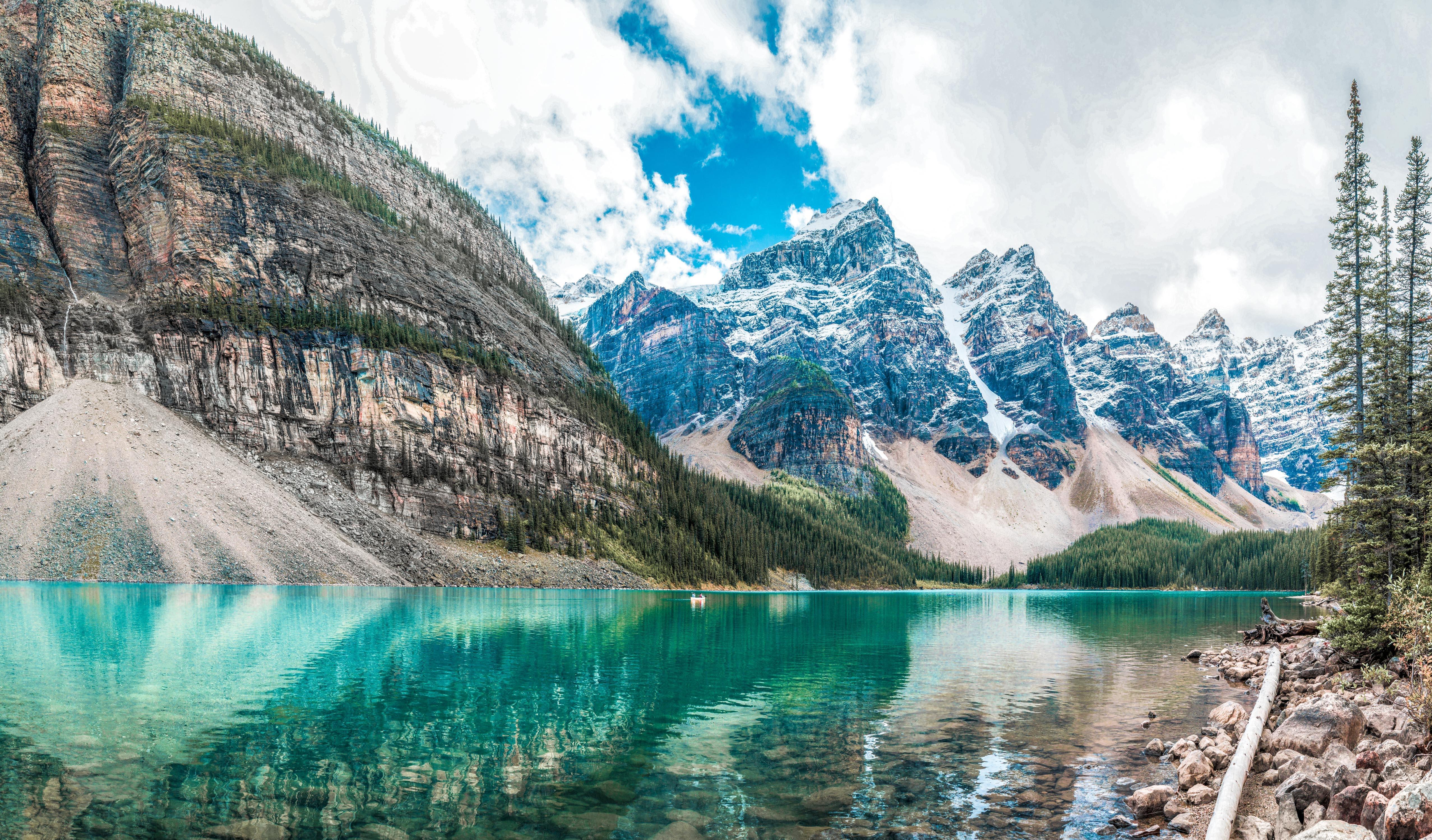 100437 скачать обои Горы, Природа, Озеро, Вершины - заставки и картинки бесплатно
