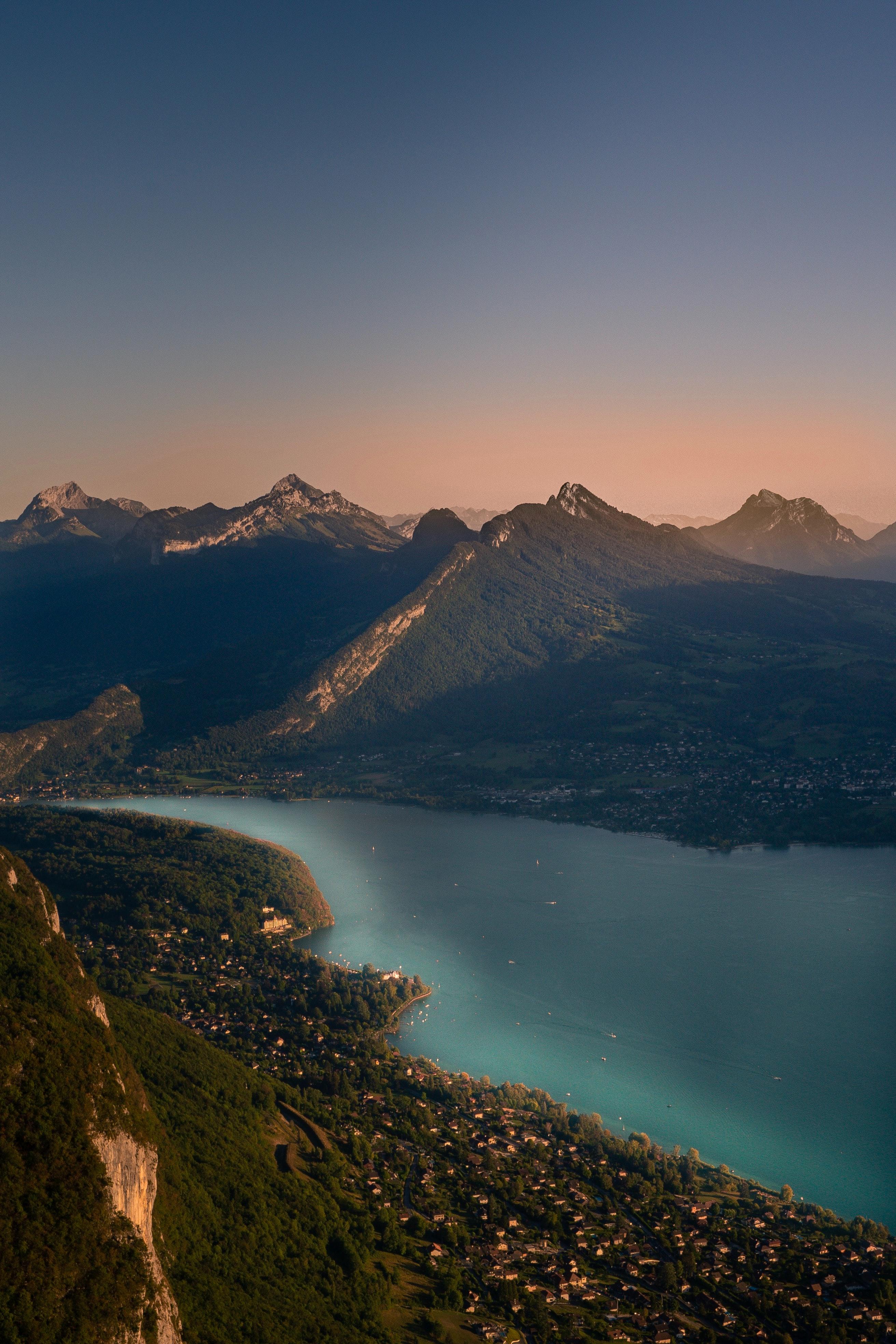 151851 免費下載壁紙 湖, 湖景, 从上面看, 顶视图, 性质, 山, 景观 屏保和圖片