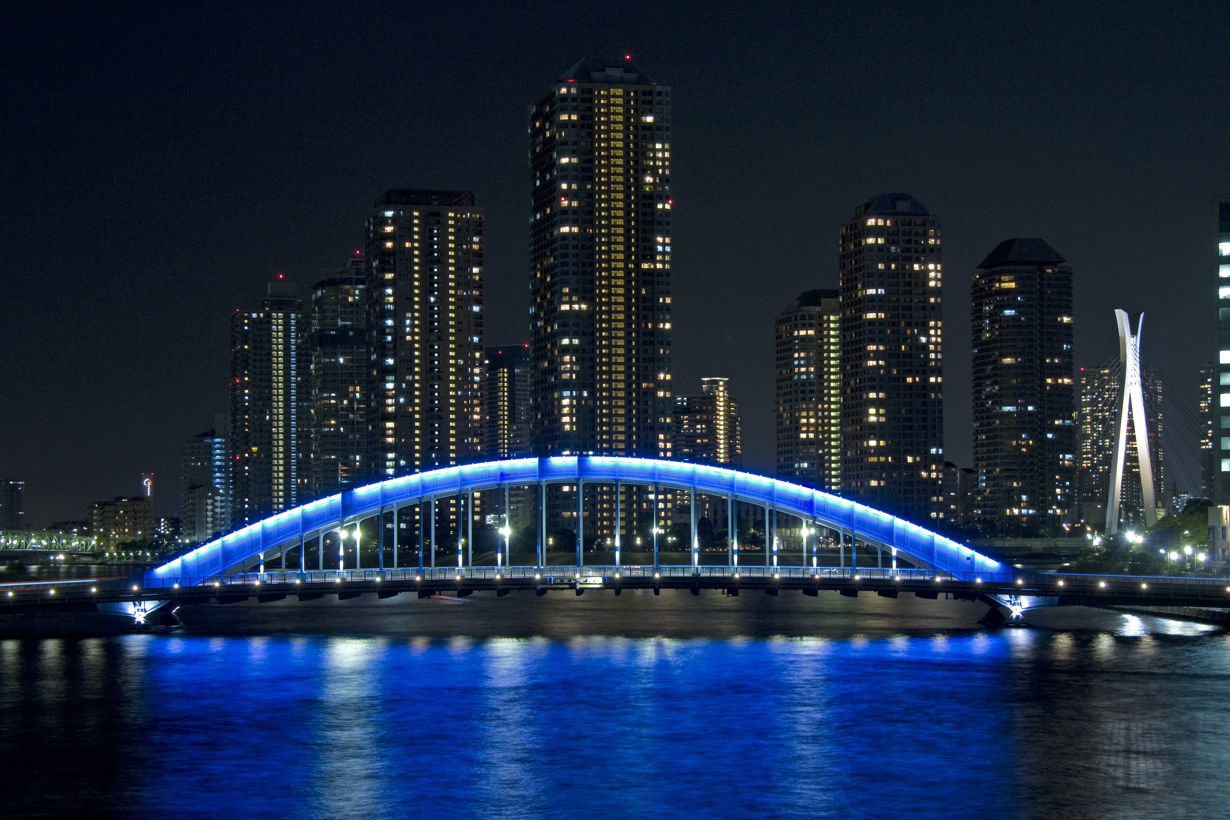 129681 download wallpaper Cities, Bridge, Japan, Tokyo, Eitai screensavers and pictures for free