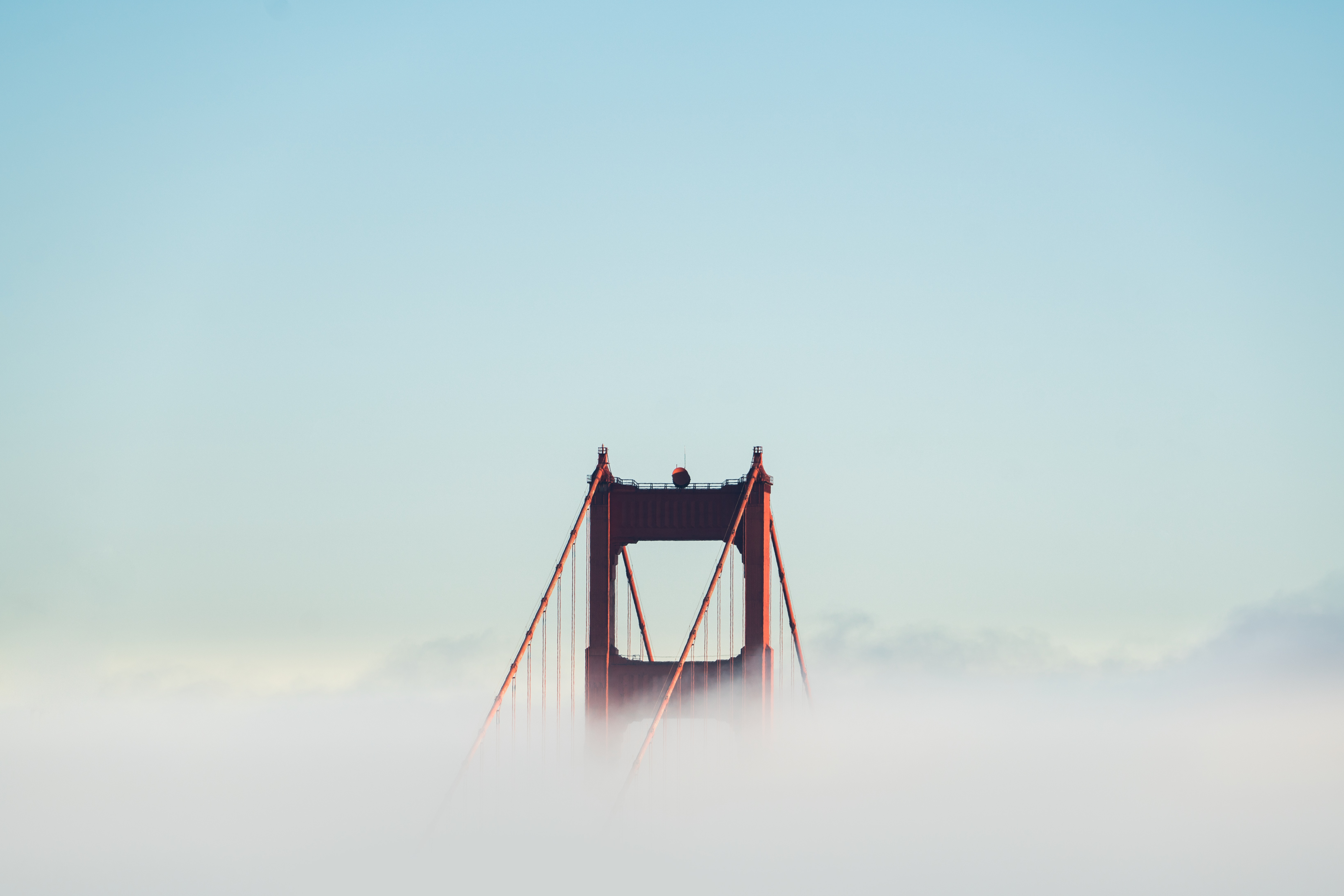 75112 Screensavers and Wallpapers Bridge for phone. Download Clouds, Minimalism, Bridge, San Francisco, Golden Gate pictures for free