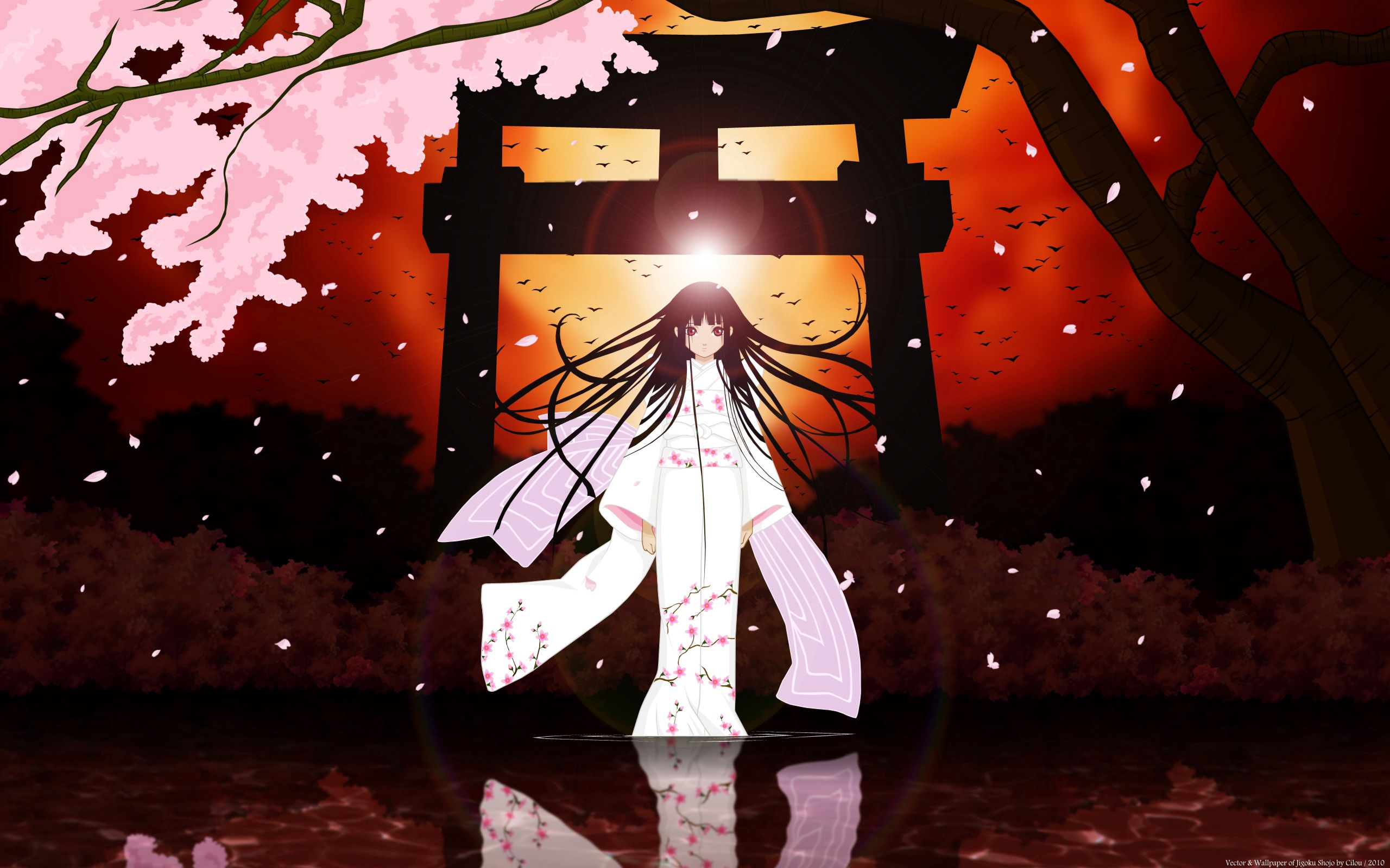 115313 Screensavers and Wallpapers Brunette for phone. Download Anime, Sight, Opinion, Girl, Kimono, Brunette pictures for free