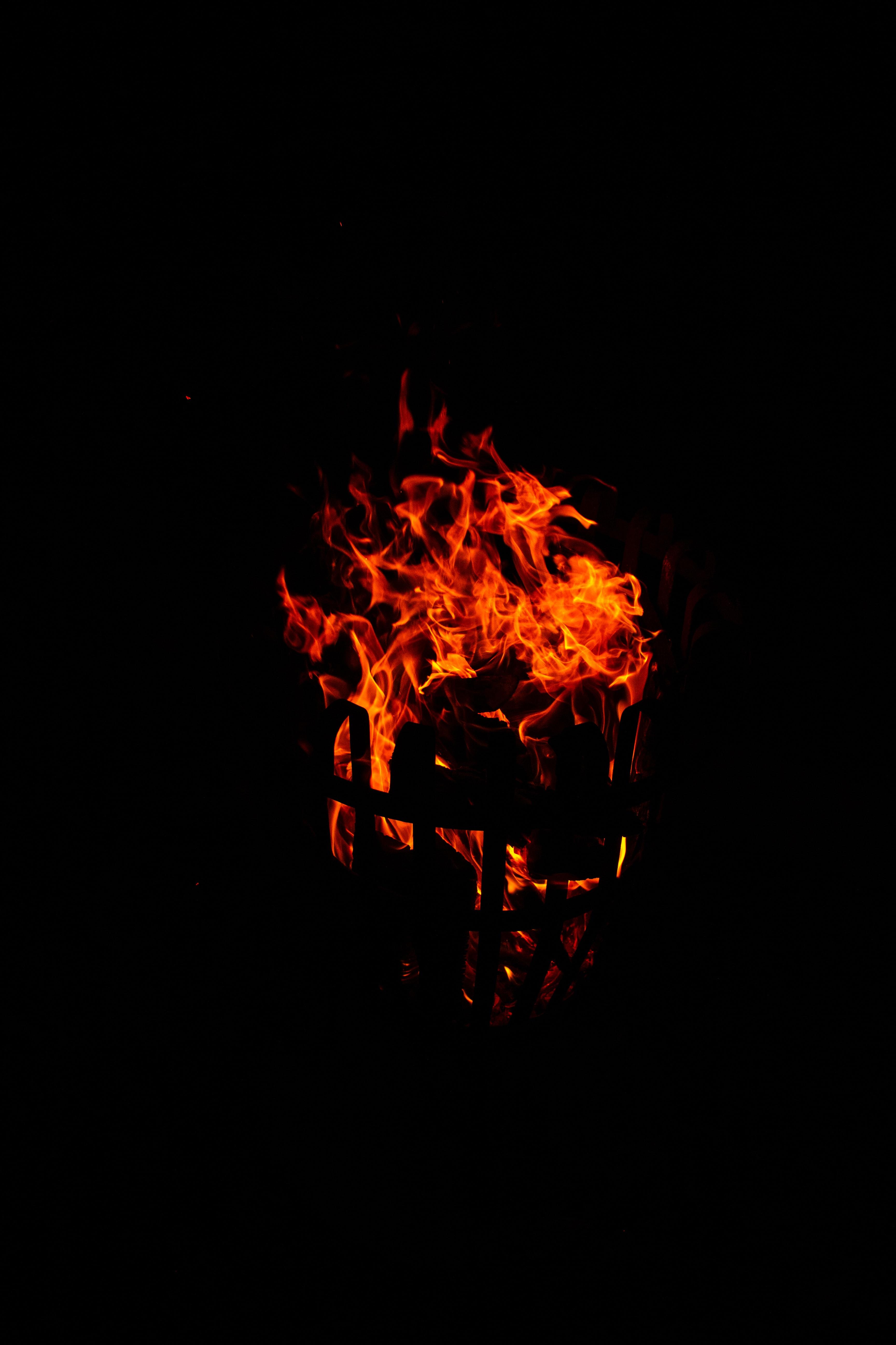 81431 免費下載壁紙 黑暗的, 黑暗, 火焰, 篝火, 火花, 火, 黑色的 屏保和圖片