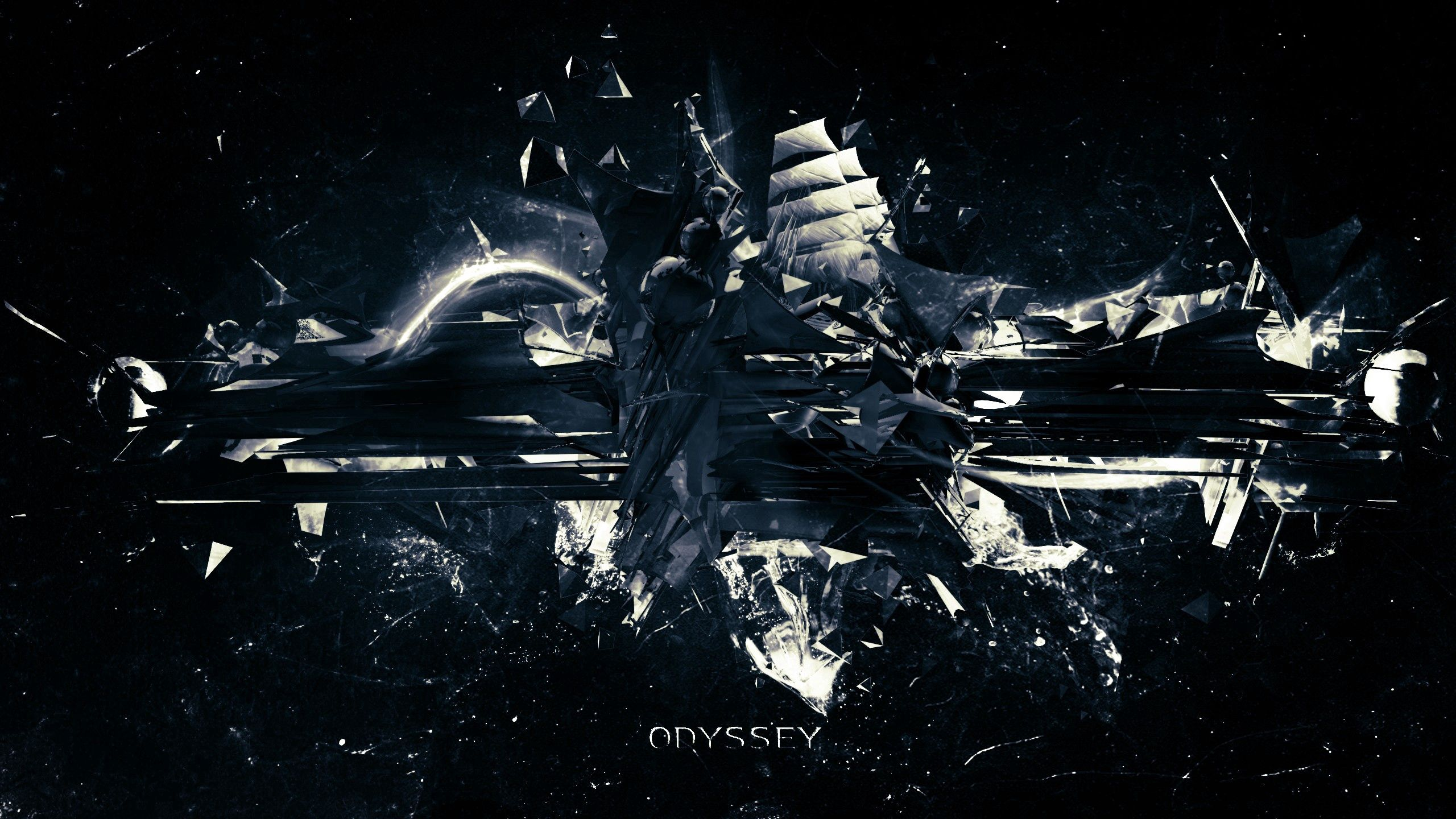 54178 download wallpaper Abstract, Explosion, Dark, Shards, Smithereens, Flight, Traffic, Movement screensavers and pictures for free