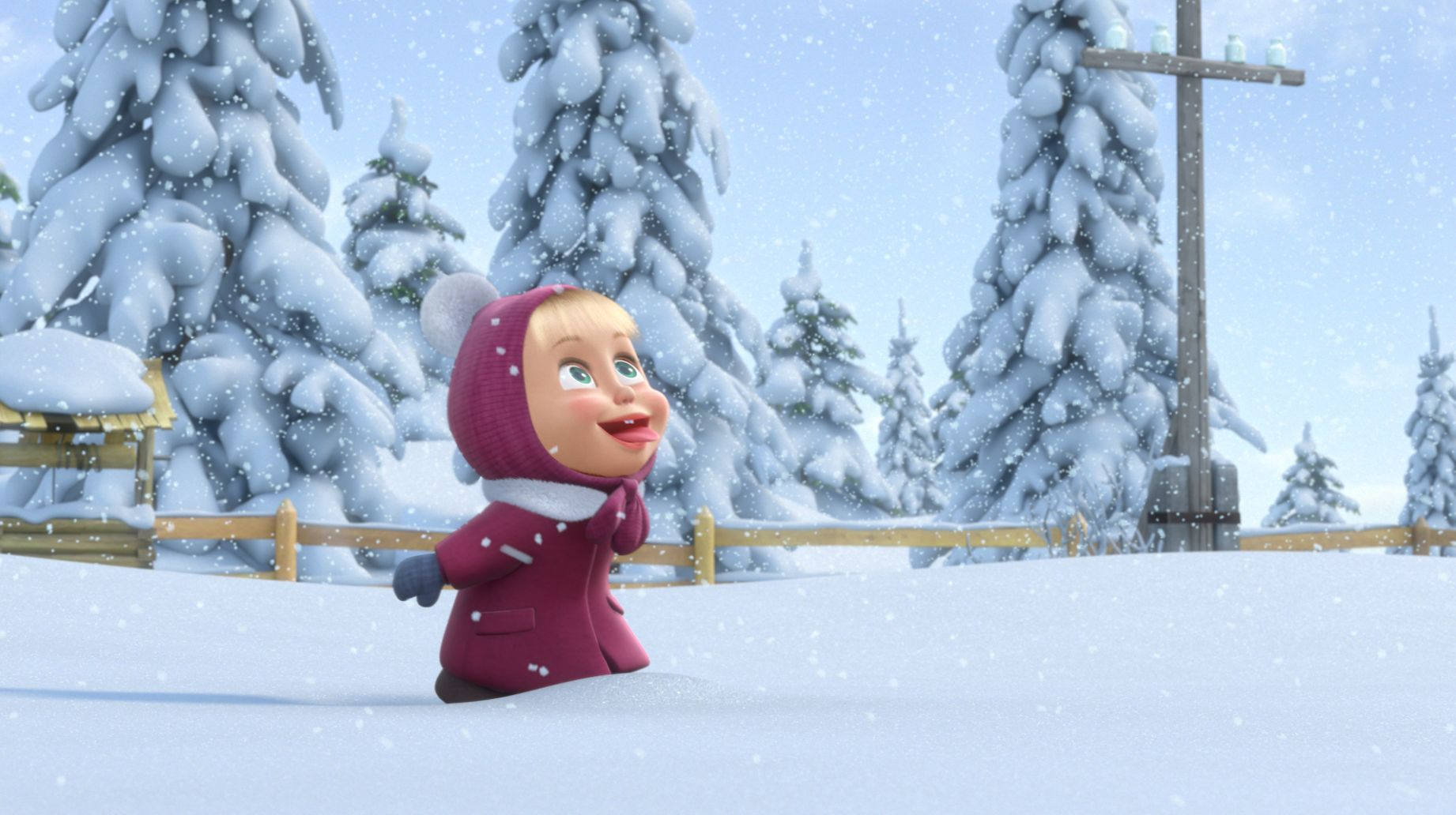 10833 download wallpaper Cartoon, Winter, Children, Snow screensavers and pictures for free
