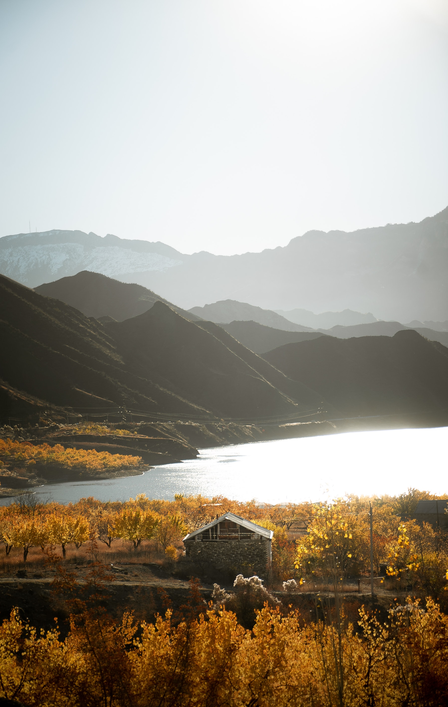 108076 Screensavers and Wallpapers Small House for phone. Download Nature, Mountains, Lake, Shore, Bank, Small House, Lodge pictures for free