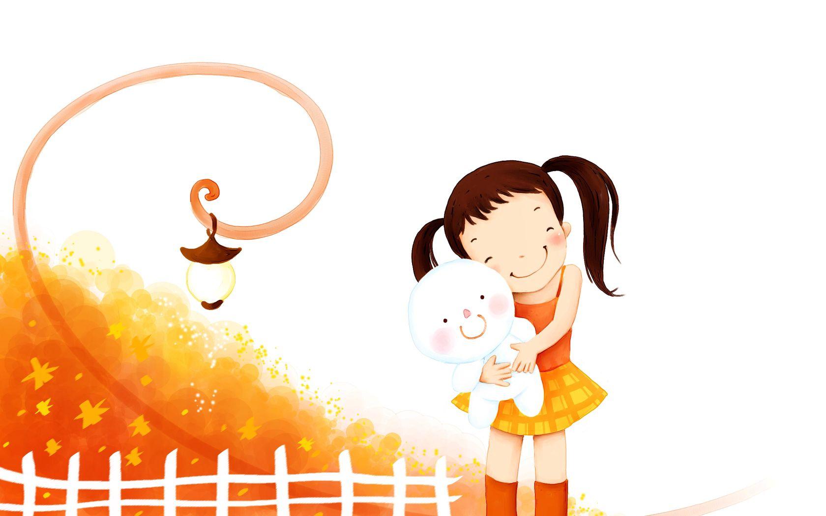 102808 скачать обои Разное, Девочка, Игрушка, Объятия, Детство - заставки и картинки бесплатно