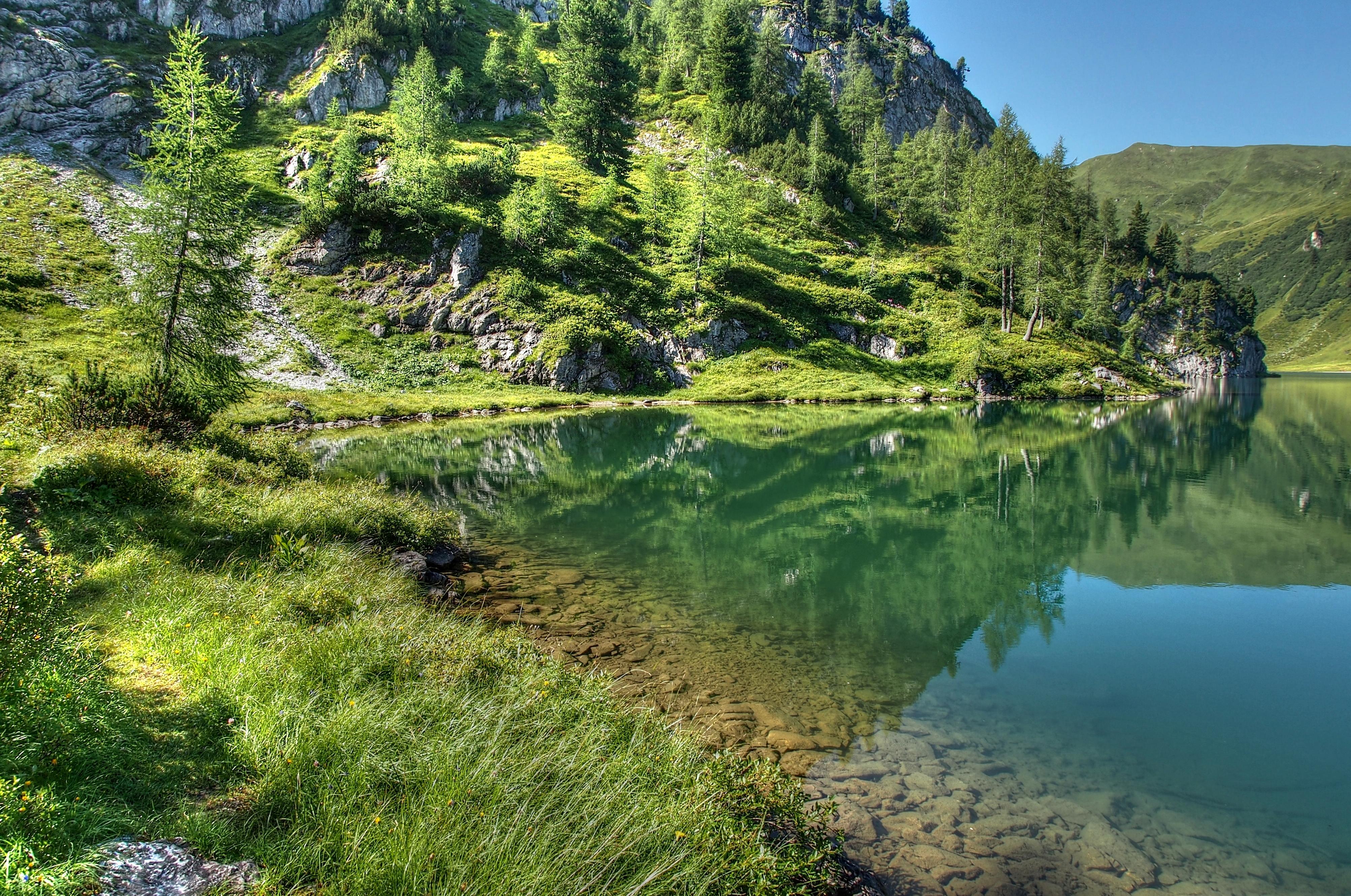 142511 завантажити шпалери Пейзаж, Природа, Гори, Озеро - заставки і картинки безкоштовно