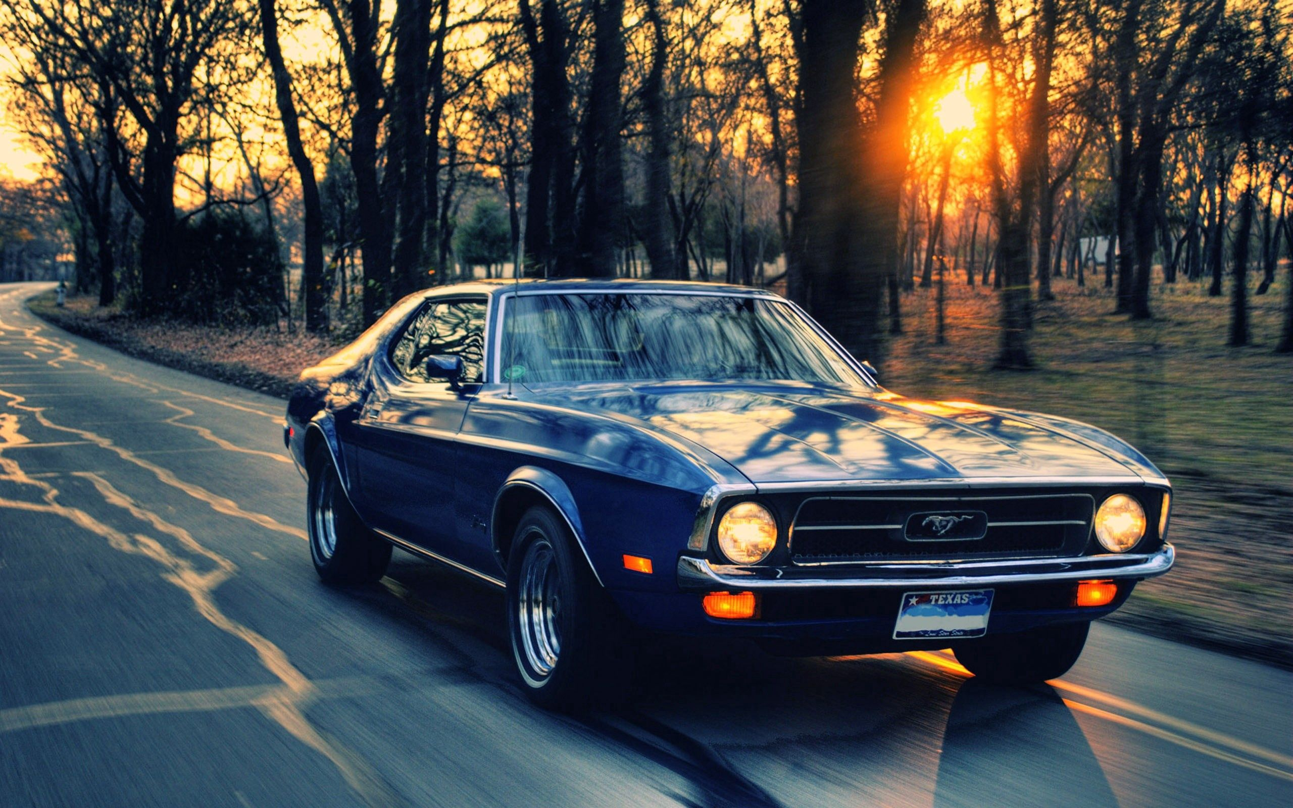69515 descargar fondo de pantalla Coches, Ford Mustang, Automóvil, Tráfico, Movimiento: protectores de pantalla e imágenes gratis