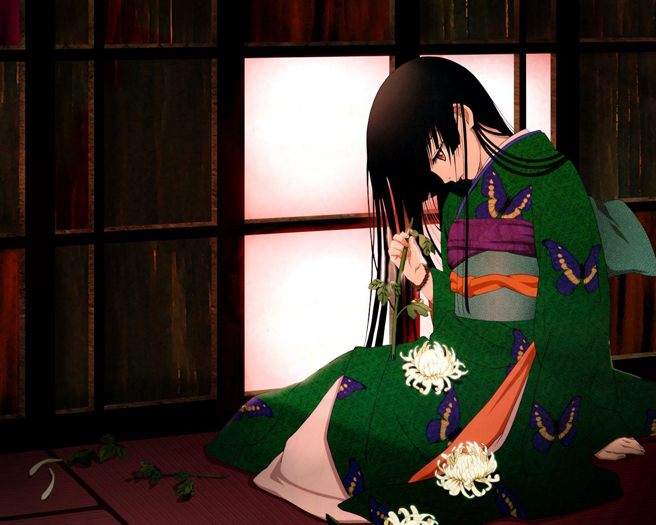 88474 Screensavers and Wallpapers Brunette for phone. Download Anime, Girl, Kimono, Brunette pictures for free