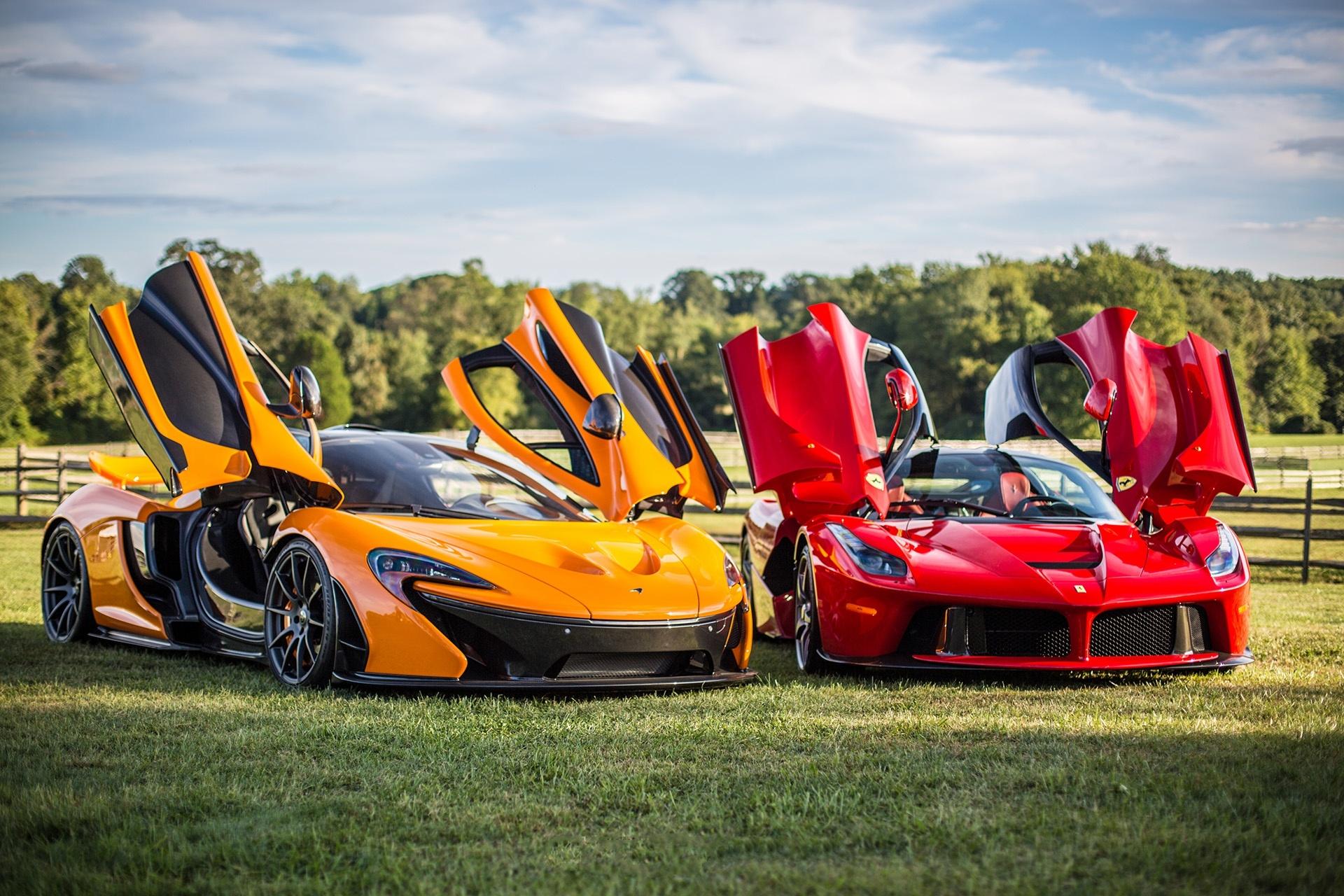 84610 download wallpaper Mclaren, Ferrari, Cars, P1, Laferrari screensavers and pictures for free