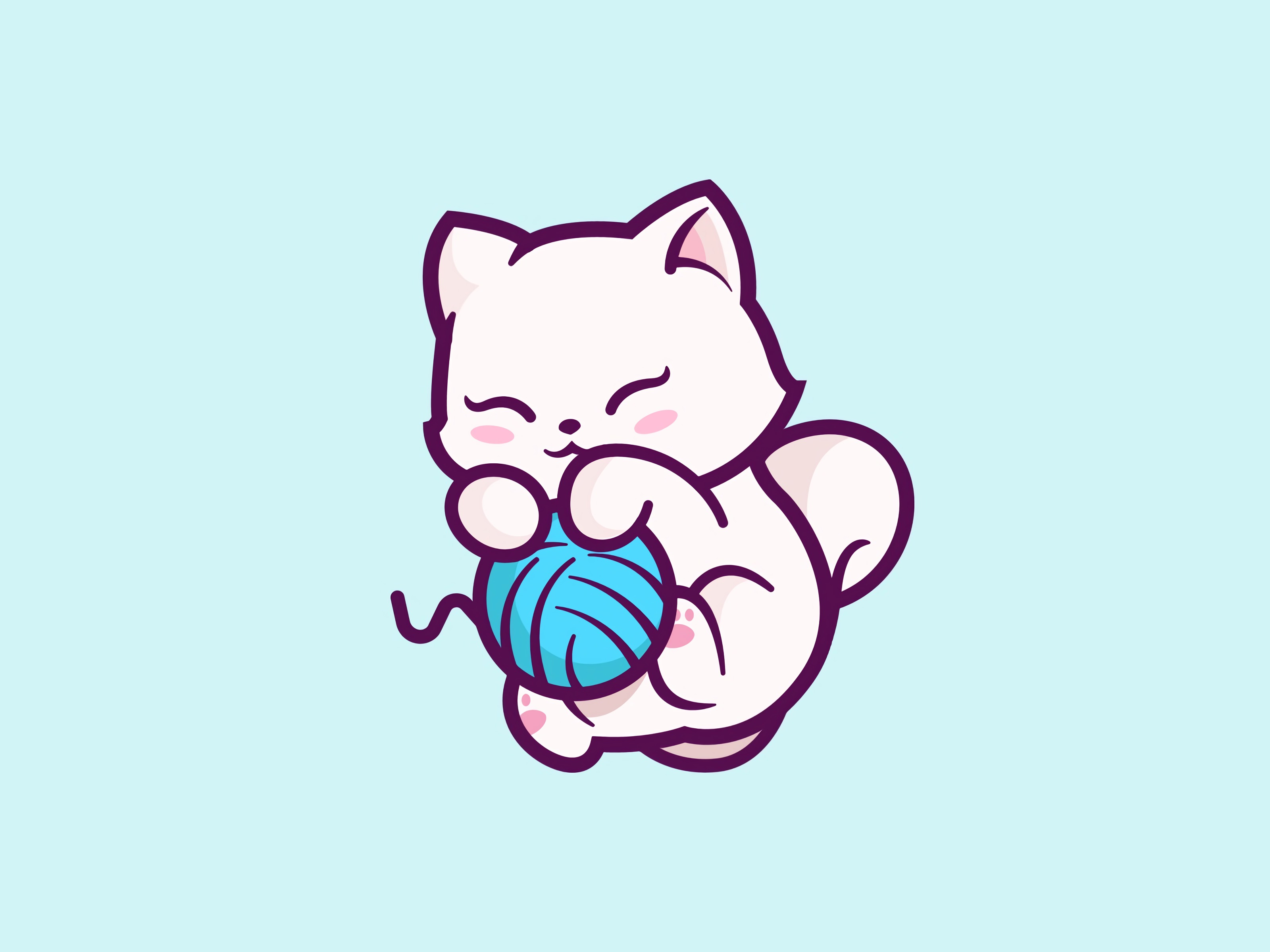 59854 Screensavers and Wallpapers Kitten for phone. Download Kitten, Art, Vector, Kitty, Nice, Sweetheart, Playful, Clew pictures for free