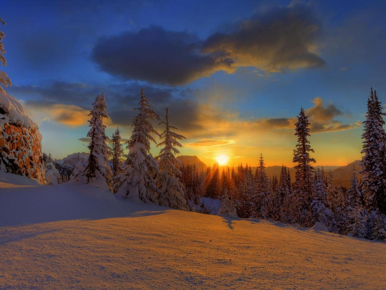 43238 download wallpaper Landscape, Winter, Nature screensavers and pictures for free