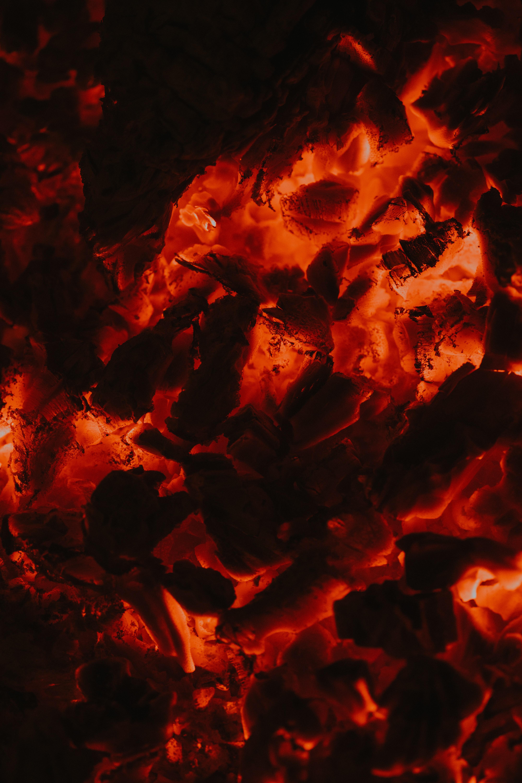61174 скачать обои Темные, Угли, Свечение, Красный, Темный - заставки и картинки бесплатно