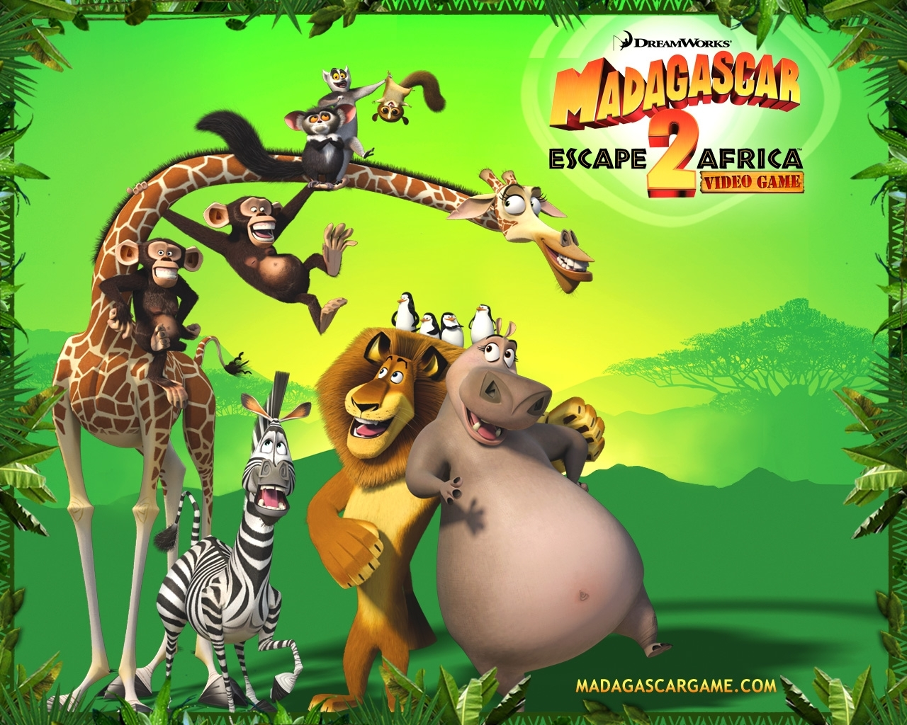 1155 download wallpaper Cartoon, Madagascar, Escape Africa screensavers and pictures for free