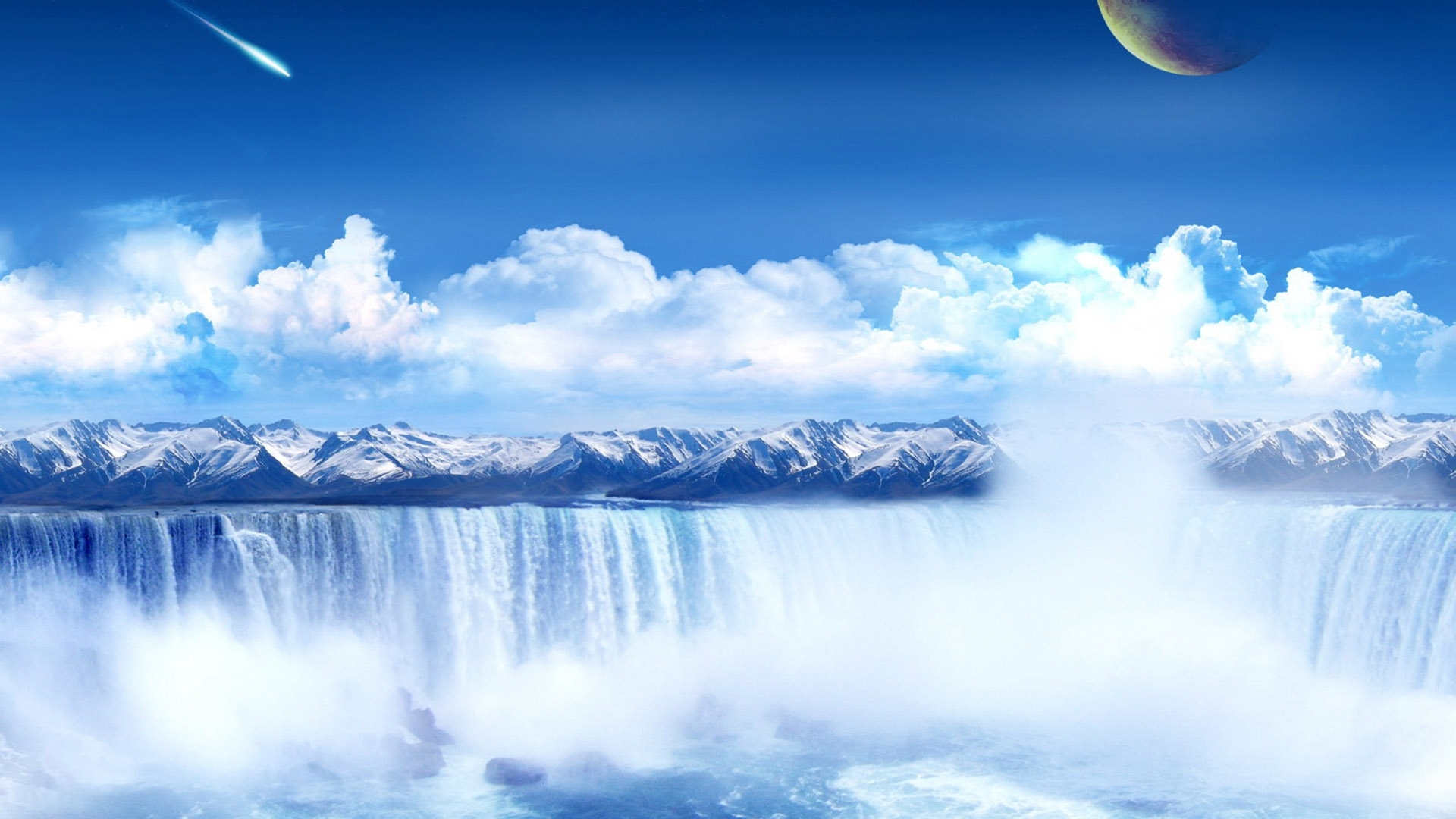 29930 download wallpaper Landscape, Waterfalls screensavers and pictures for free