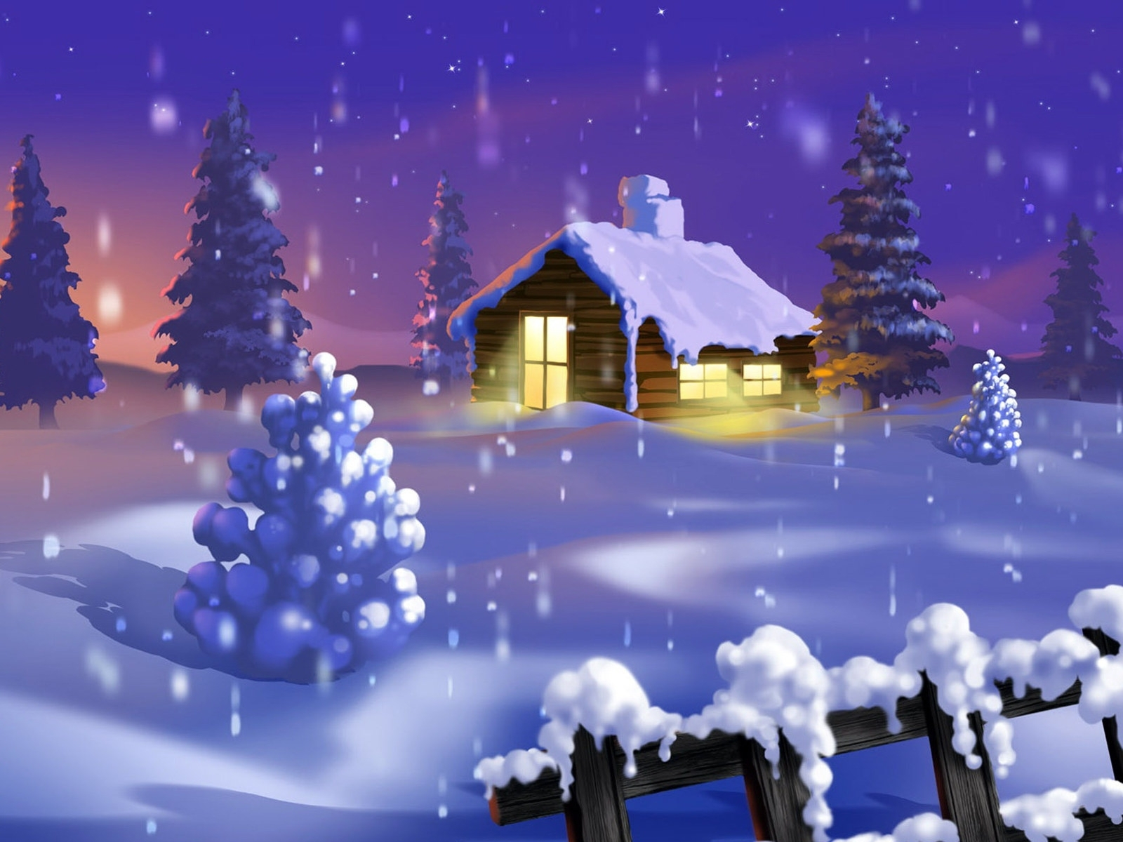 2806 download wallpaper Landscape, Winter, Houses, Snow, Pictures screensavers and pictures for free