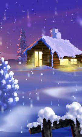 2806 baixar papel de parede Paisagem, Inverno, Casas, Neve, Imagens - protetores de tela e imagens gratuitamente