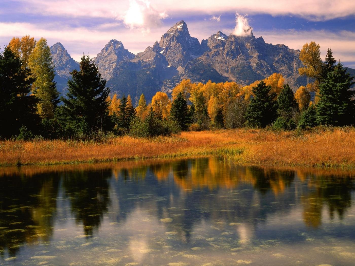 23407 скачать обои Пейзаж, Река, Деревья, Горы - заставки и картинки бесплатно