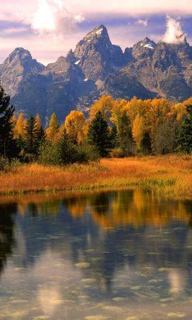 23407 télécharger le fond d'écran Paysage, Rivières, Arbres, Montagnes - économiseurs d'écran et images gratuitement