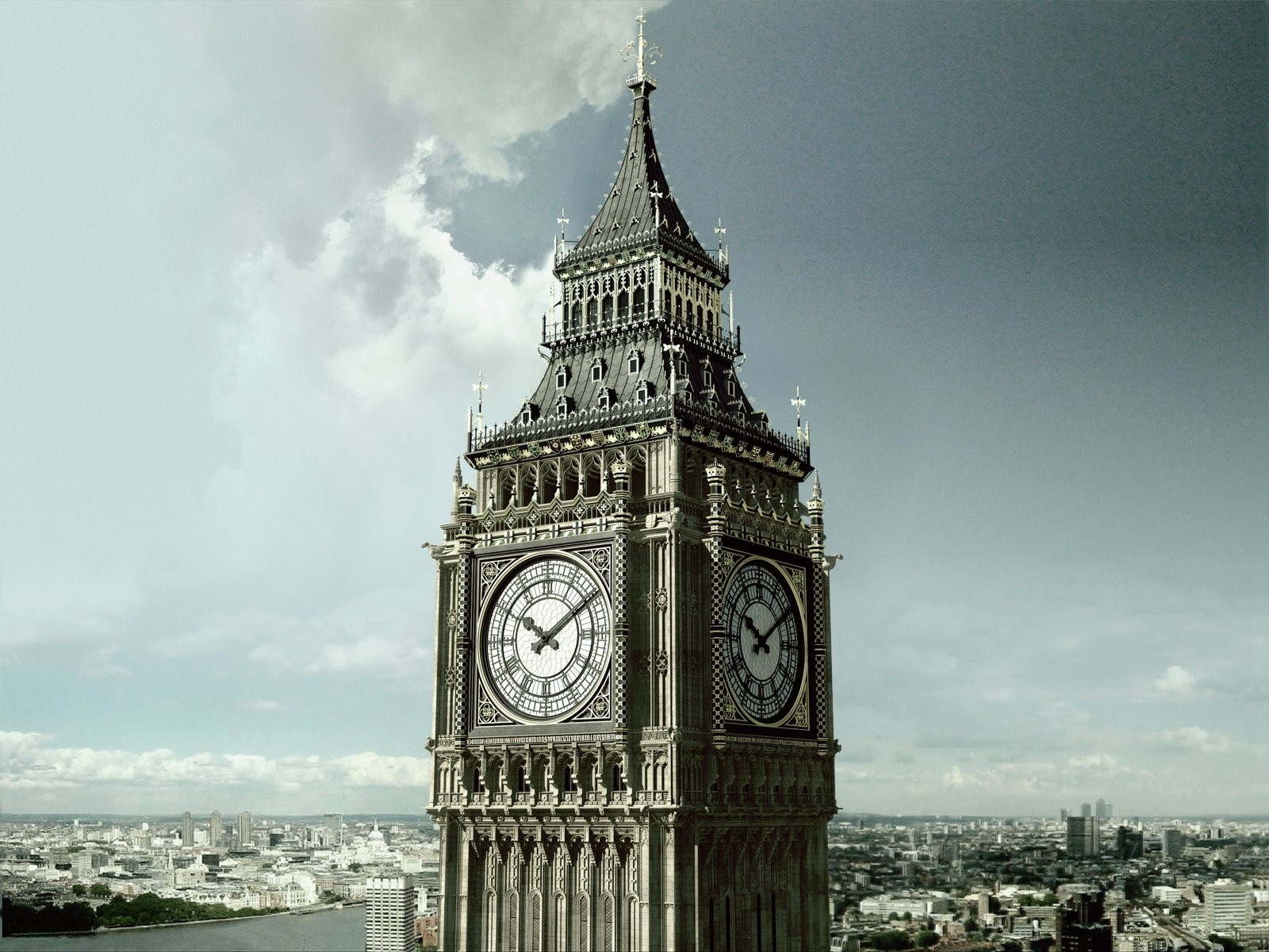 3167 download wallpaper Architecture, London, Big Ben, Clock screensavers and pictures for free