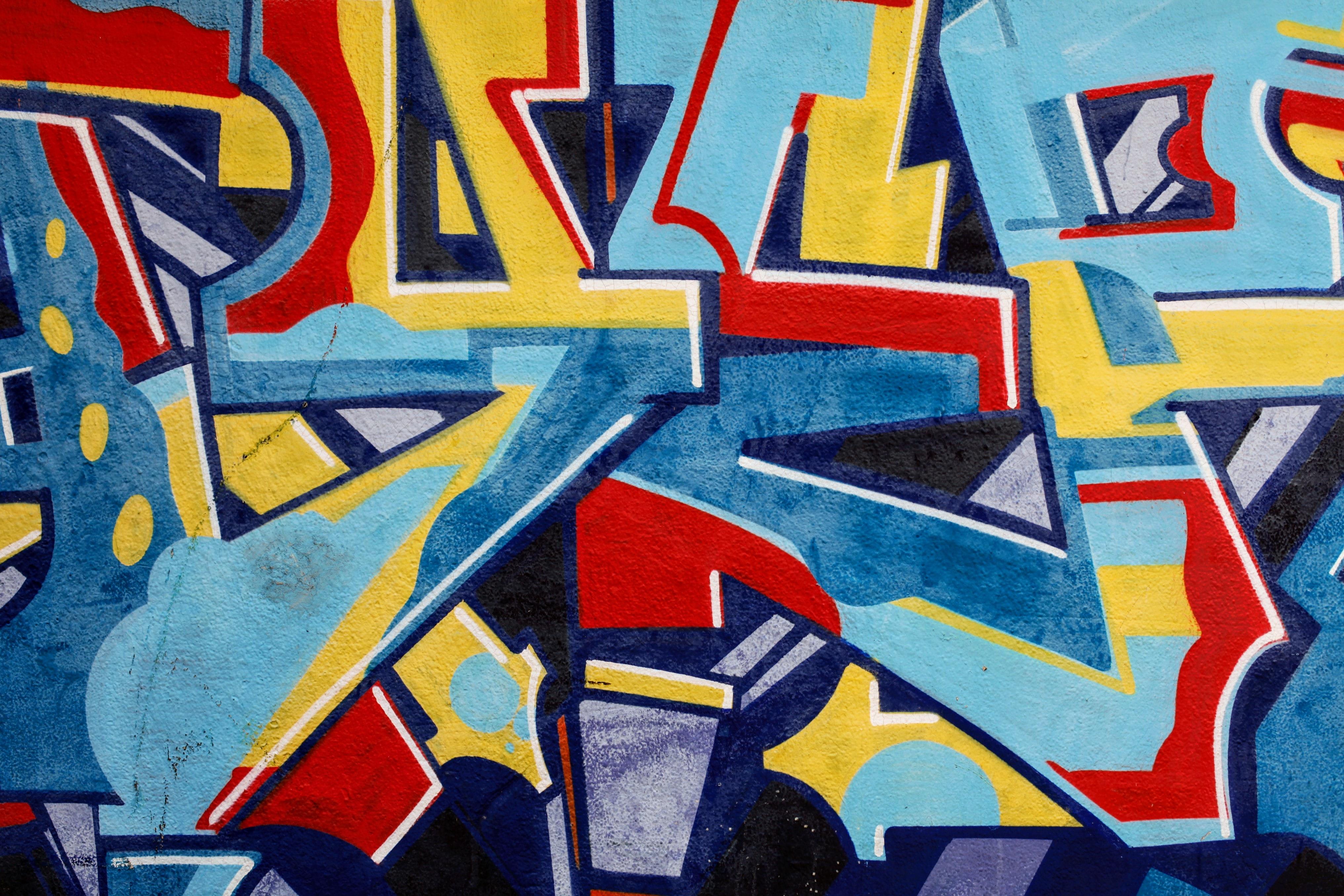 53633 Hintergrundbild herunterladen Symbole, Zeichen, Verschiedenes, Sonstige, Farbe, Wand, Graffiti, Briefe, Buchstaben - Bildschirmschoner und Bilder kostenlos