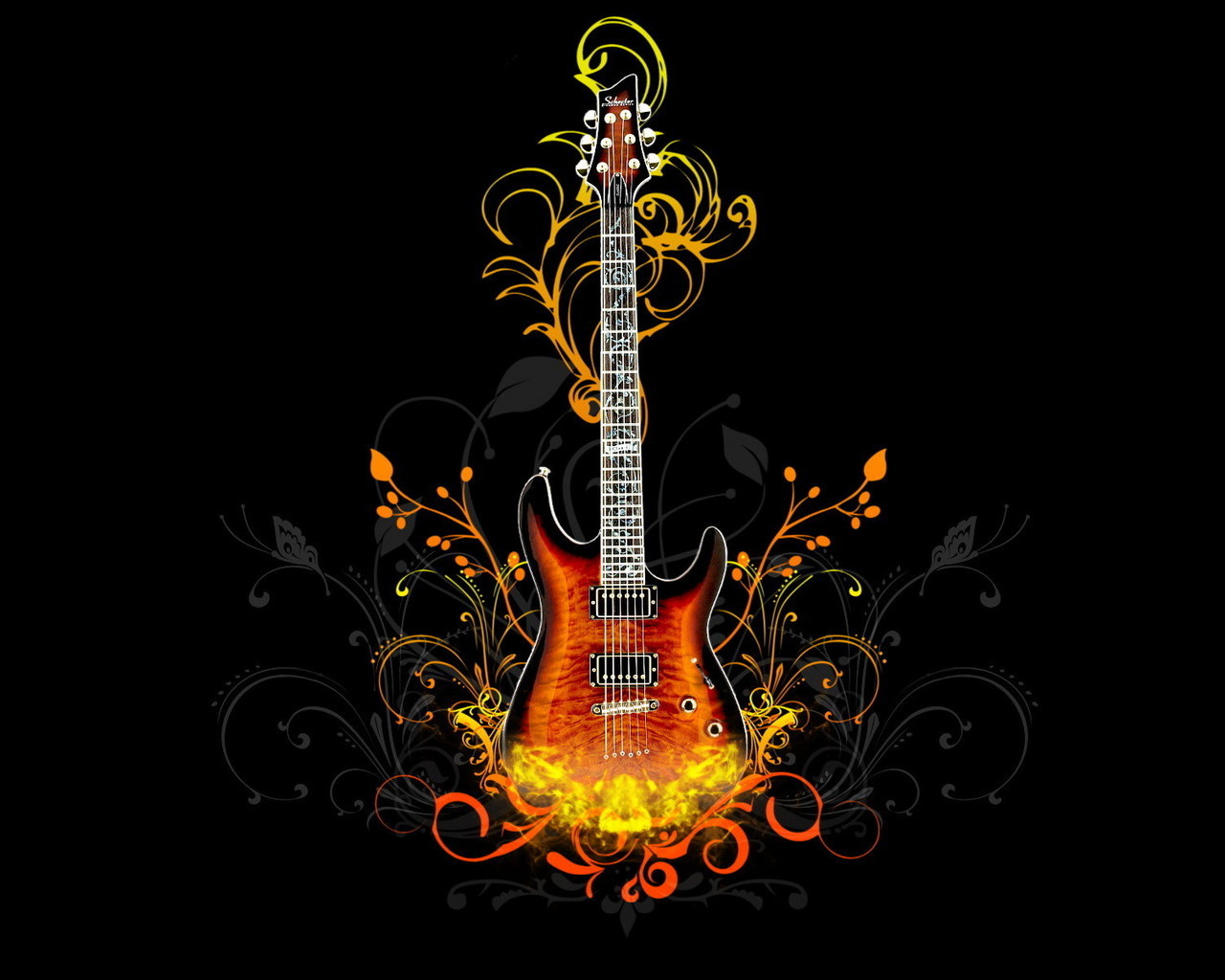 47414 download wallpaper Music, Background, Guitars, Objects screensavers and pictures for free